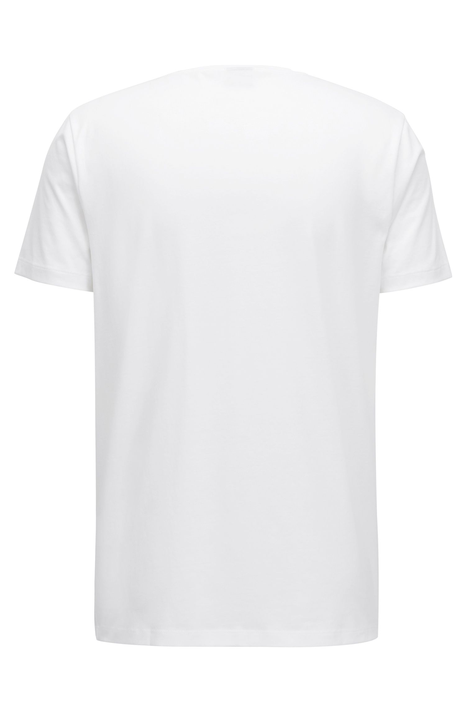 T-shirt Regular Fit en coton Pima avec logo