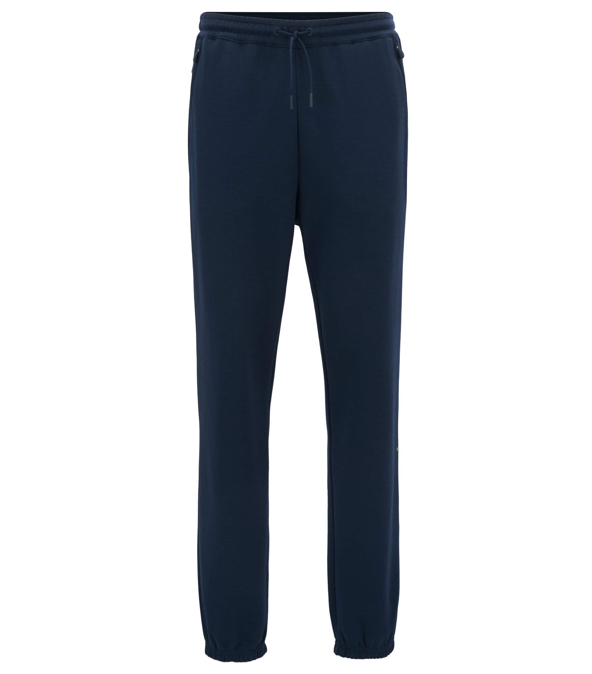 Water-repellent cotton-blend trousers in a slim fit, Dark Blue