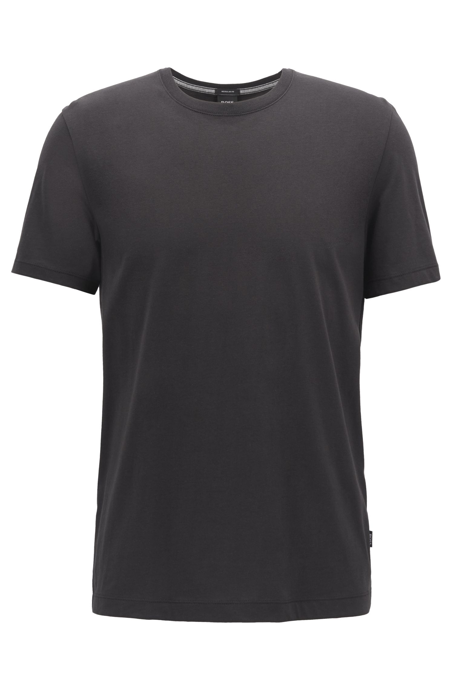 T-shirt Regular Fit en coton doux, Noir