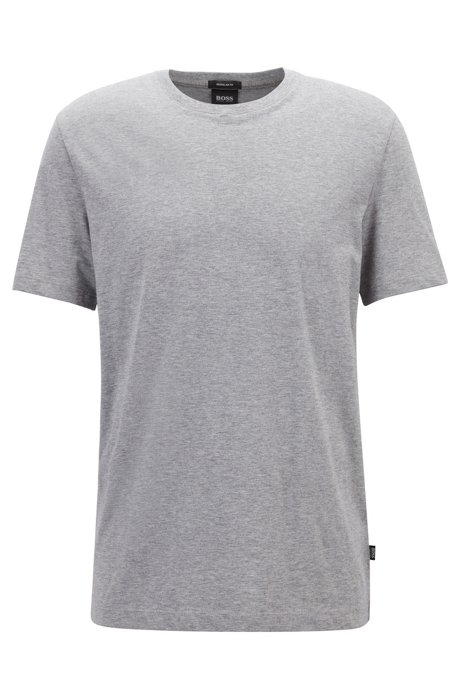 Regular-Fit T-Shirt aus weicher Baumwolle, Silber