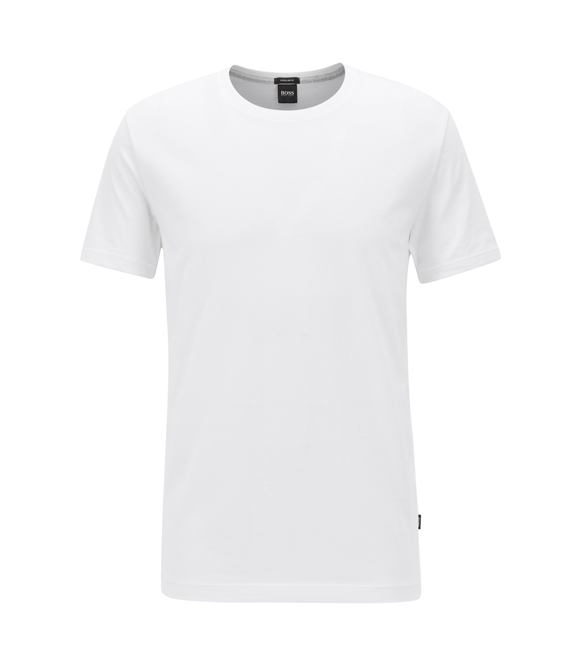 T-shirt regular fit in morbido cotone, Bianco