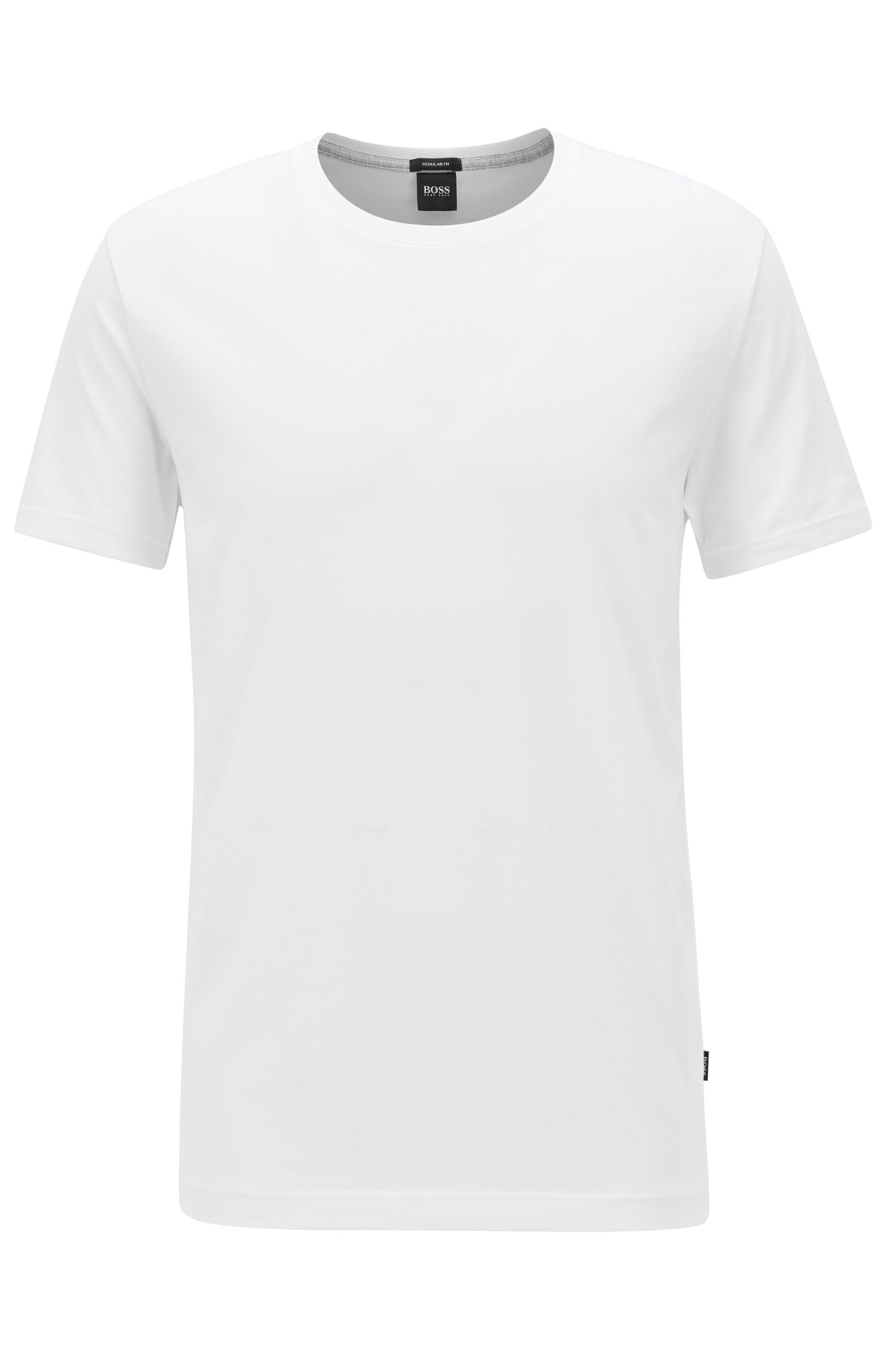 Camiseta regular fit en algodón suave, Blanco