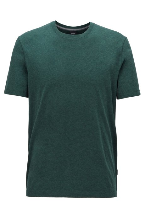 Regular-fit T-shirt in soft cotton, Dark Grey