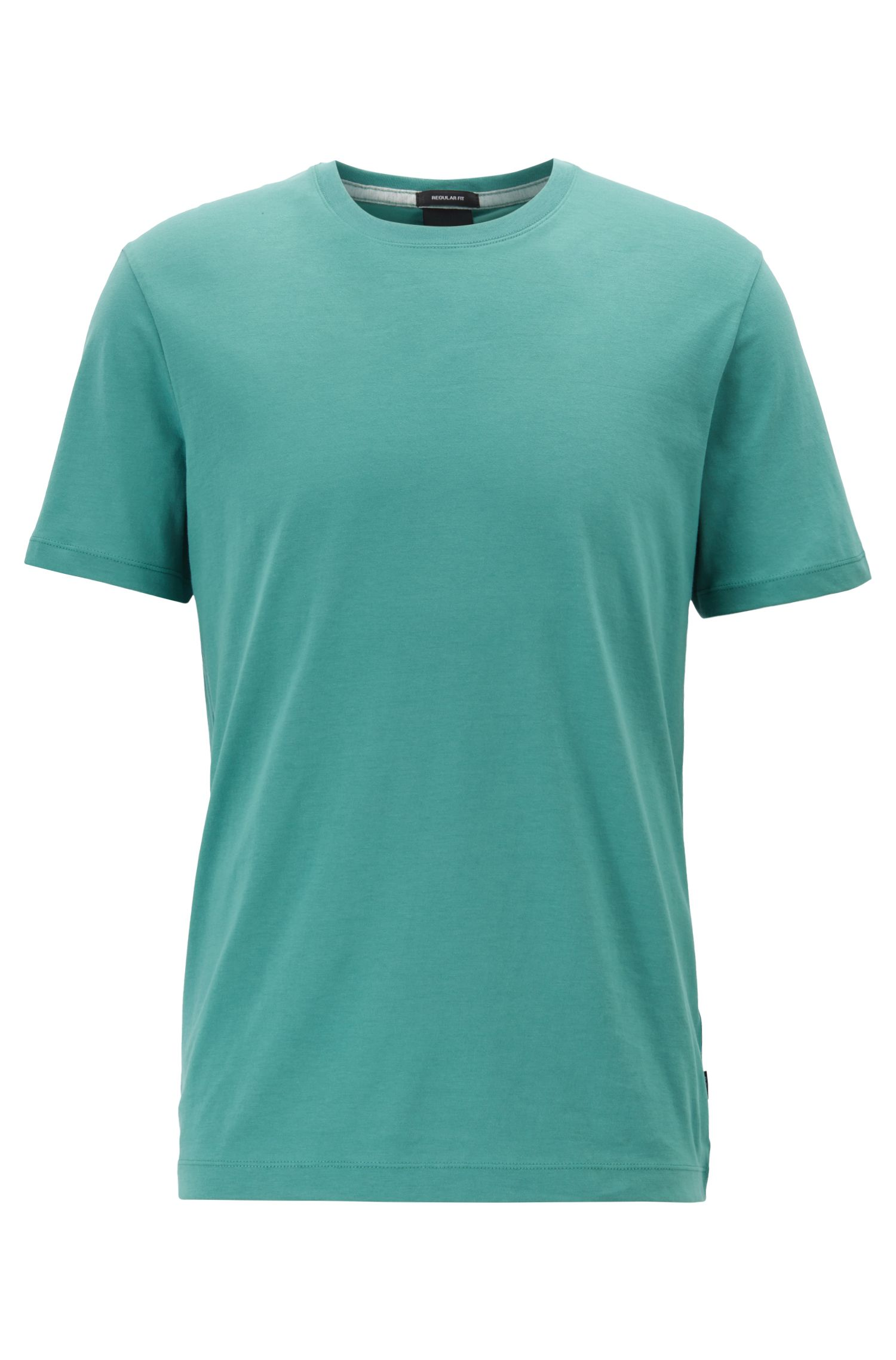 T-shirt Regular Fit en coton doux, Vert