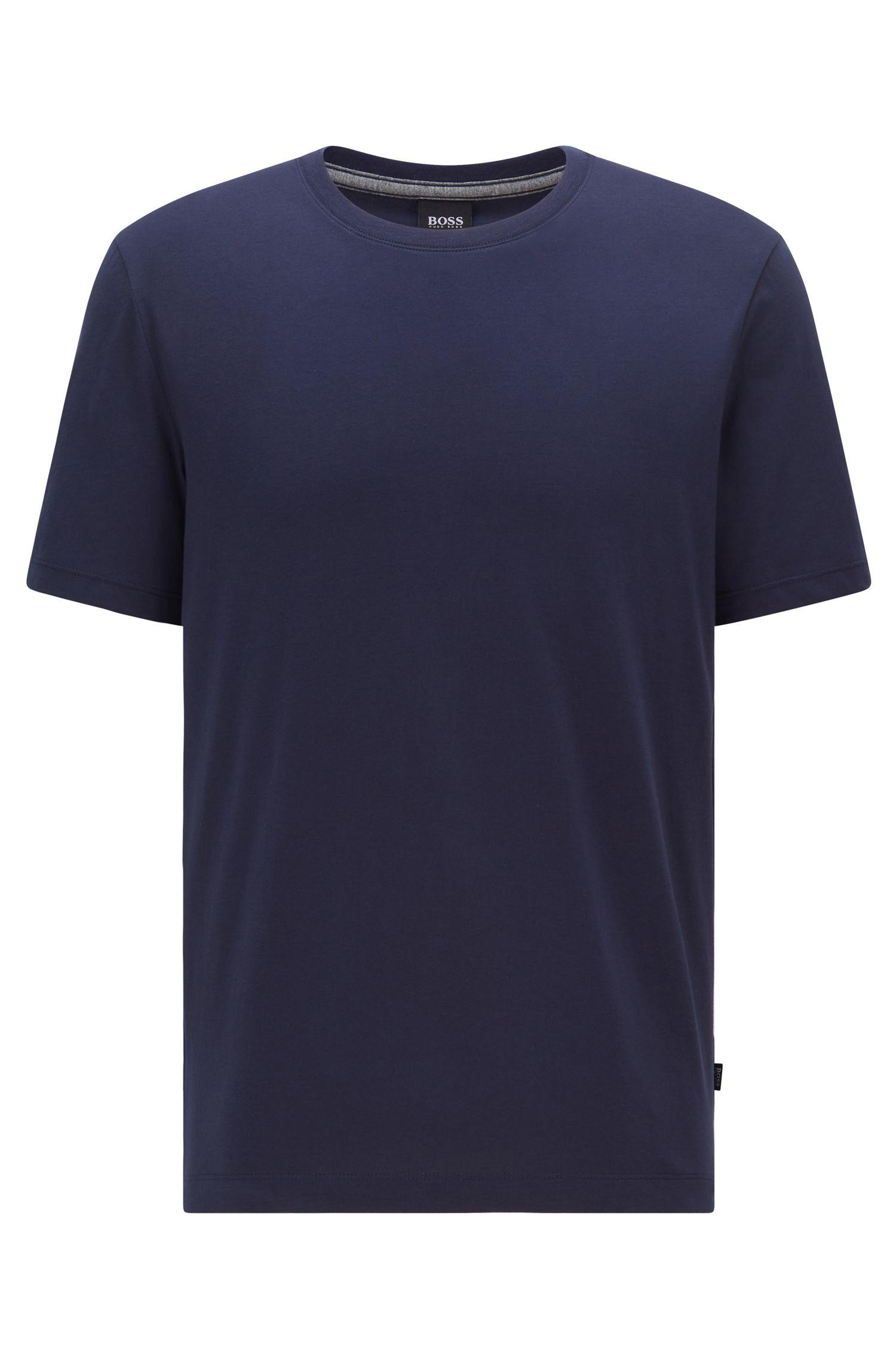 Regular-fit T-shirt van zachte katoen, Donkerblauw