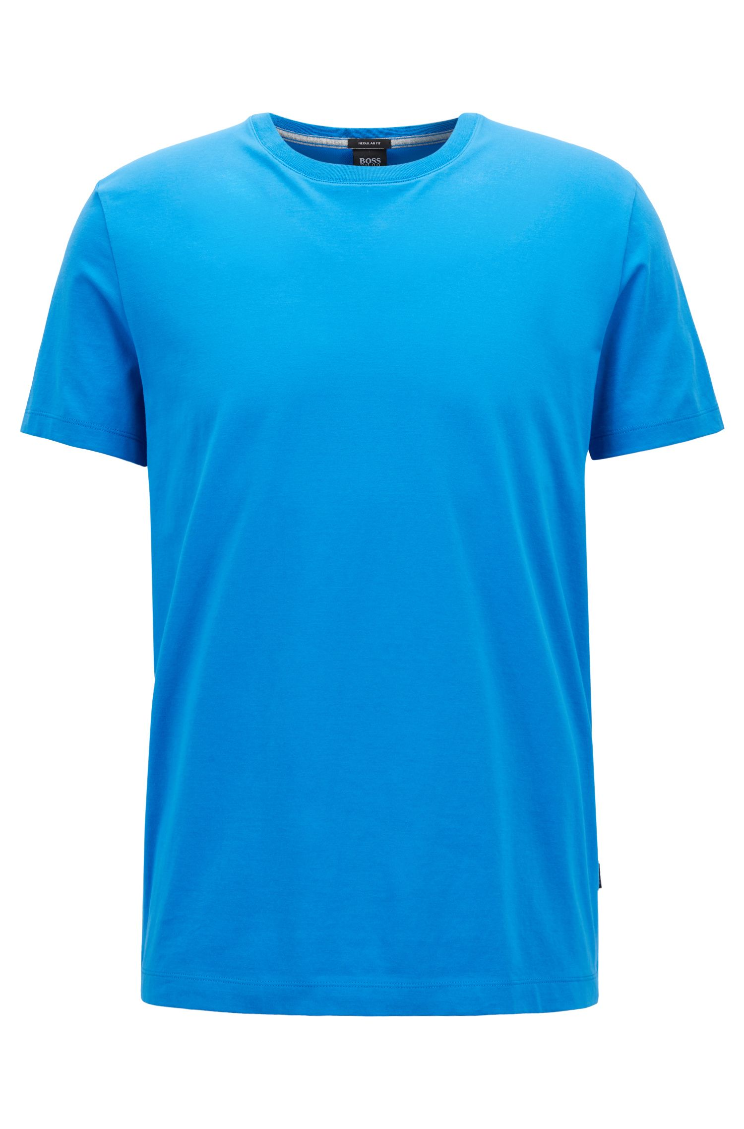 Regular-Fit T-Shirt aus weicher Baumwolle, Blau