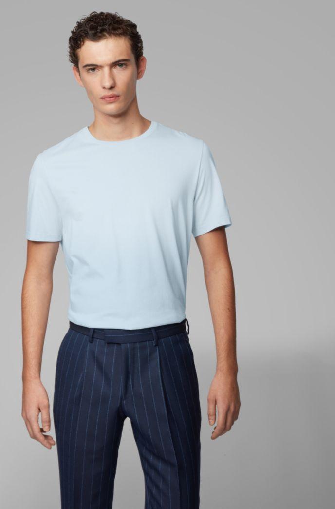 T-Shirt aus Baumwolle mit Rundhalsausschnitt und spezieller Waschung