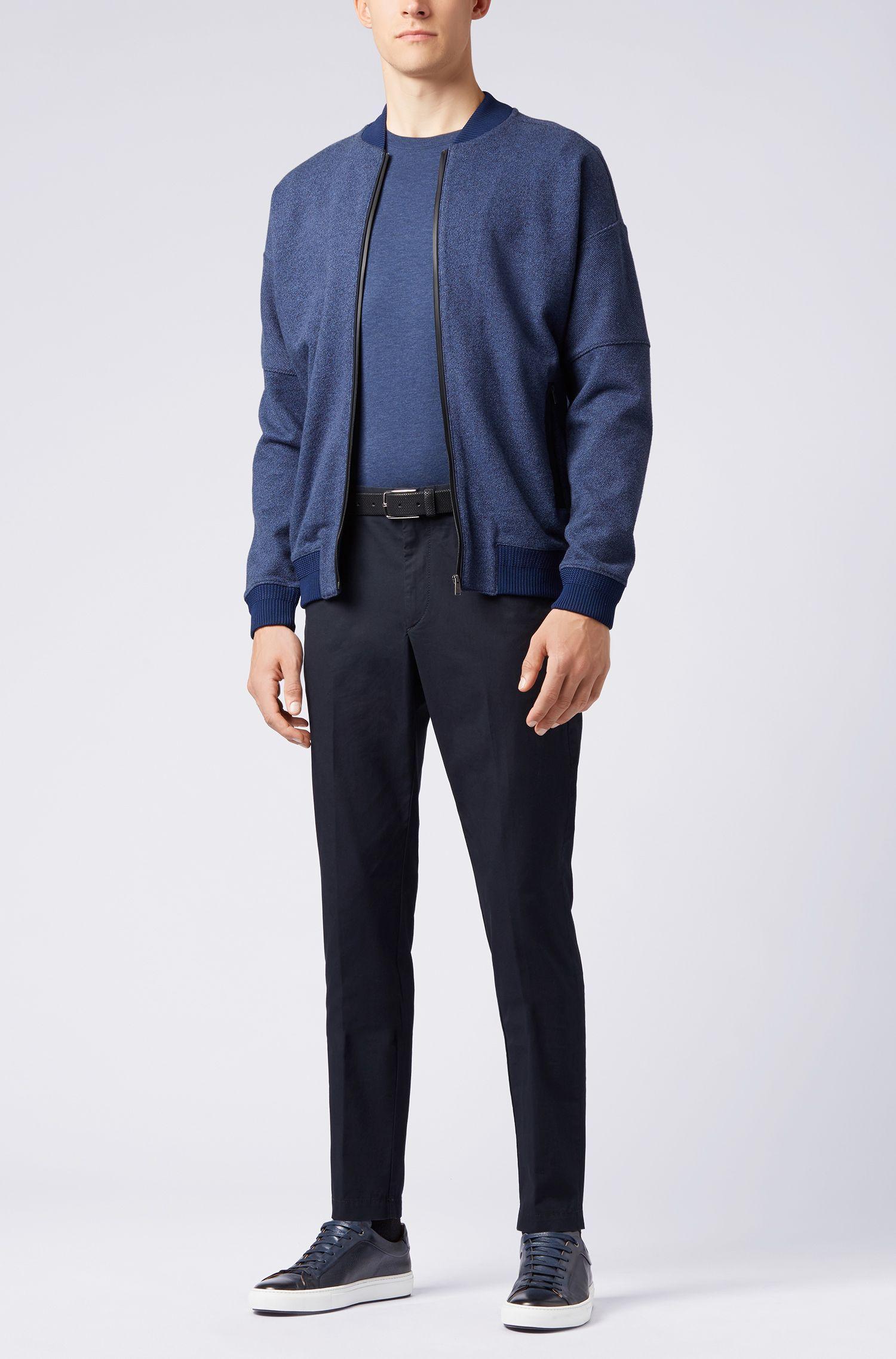 Regular-Fit T-Shirt aus weicher Baumwolle, Blau