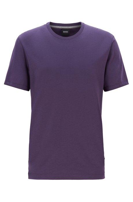 Regular-fit T-shirt in soft cotton, Dark Purple