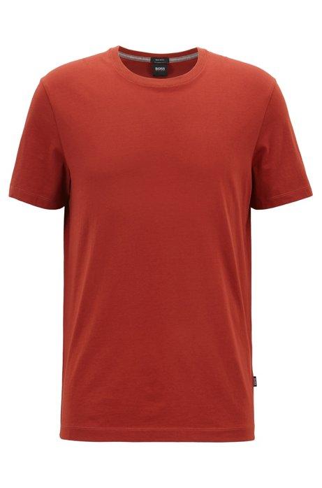 Camiseta regular fit en algodón suave, Rojo oscuro