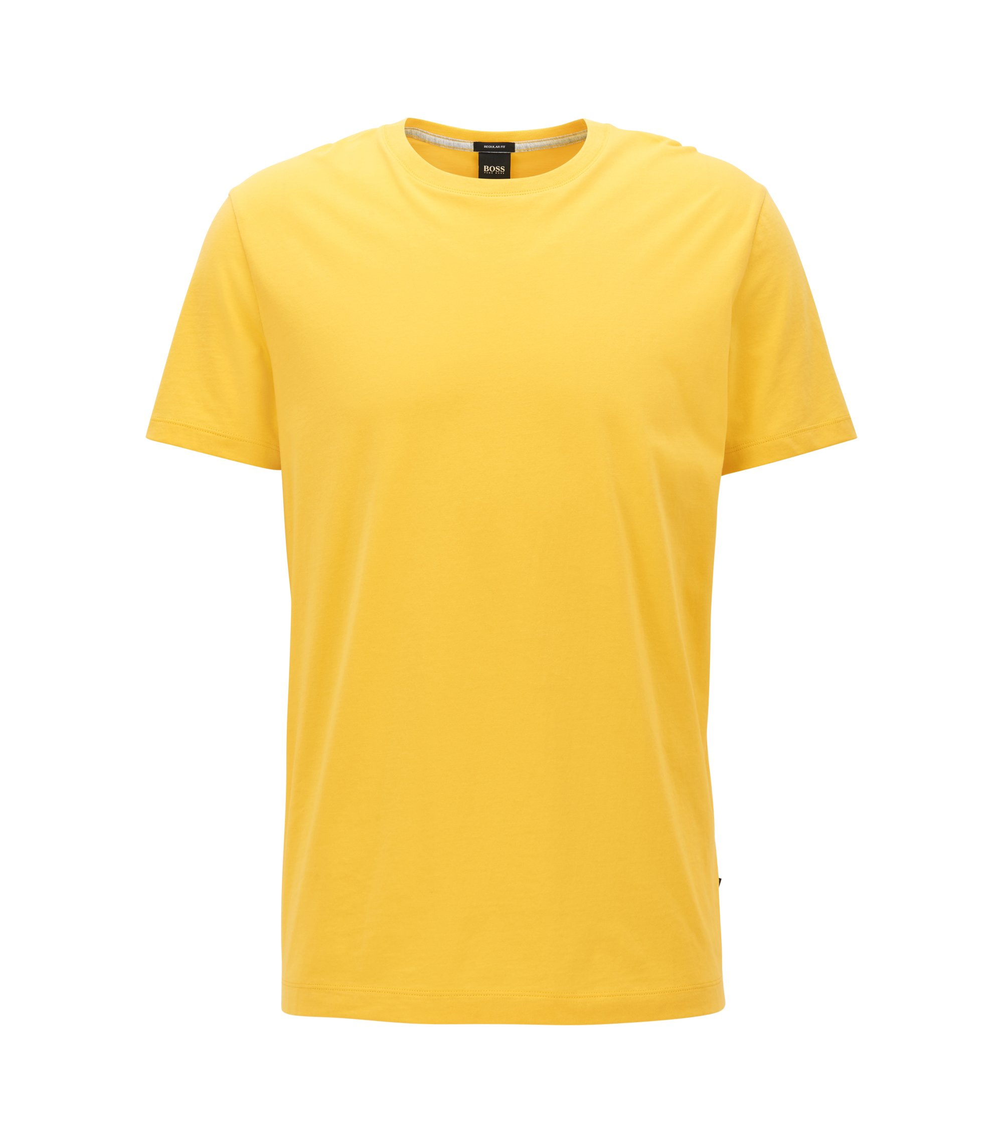 T-shirt Regular Fit en coton doux, Jaune