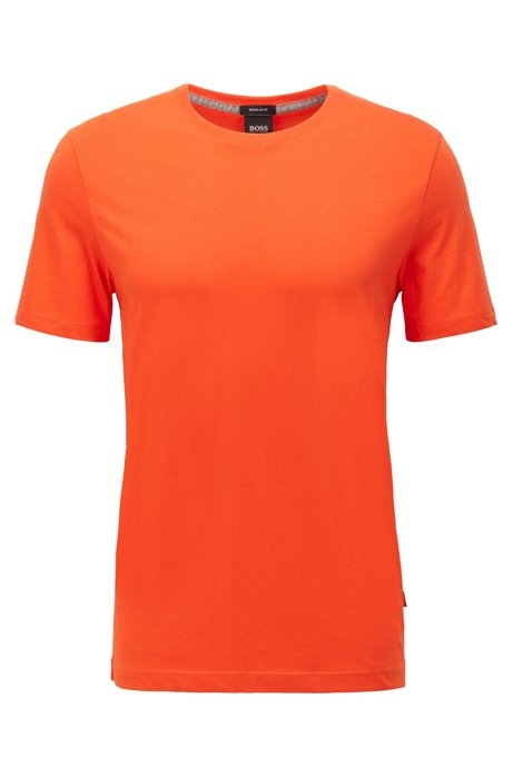 T-shirt regular fit in morbido cotone, Arancione