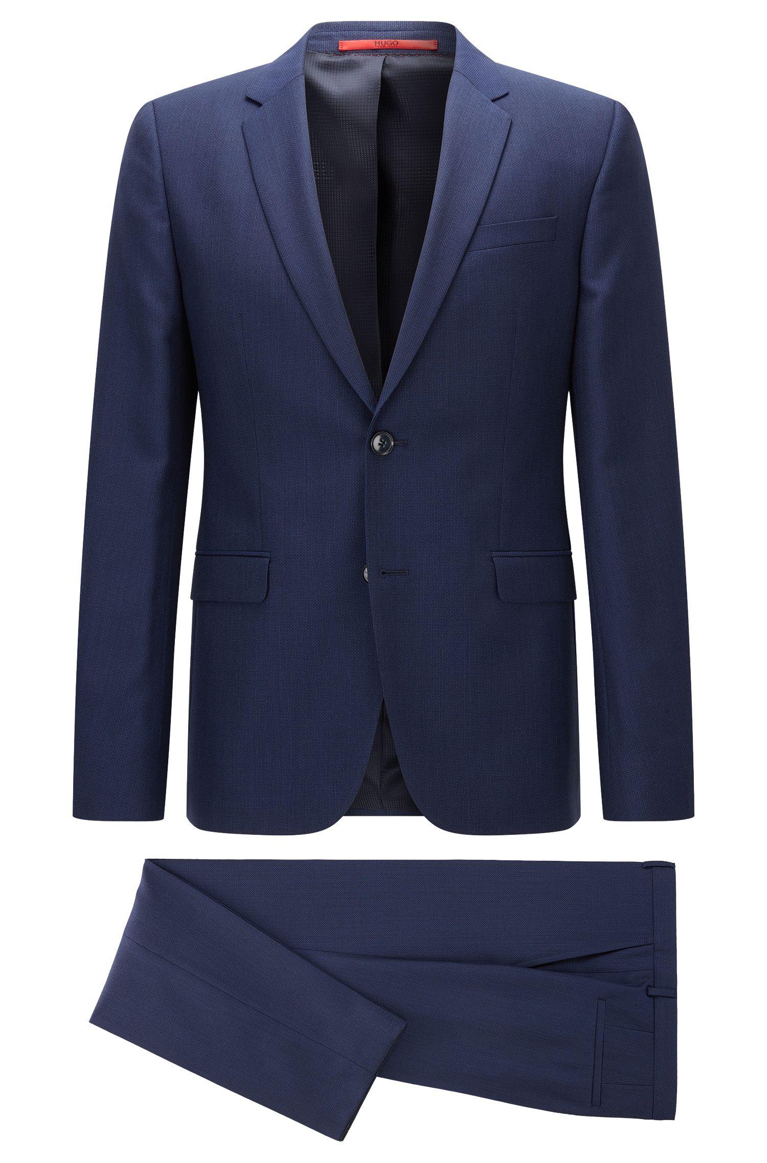 Gemusterter Extra-Slim-Fit-Anzug aus Schurwolle