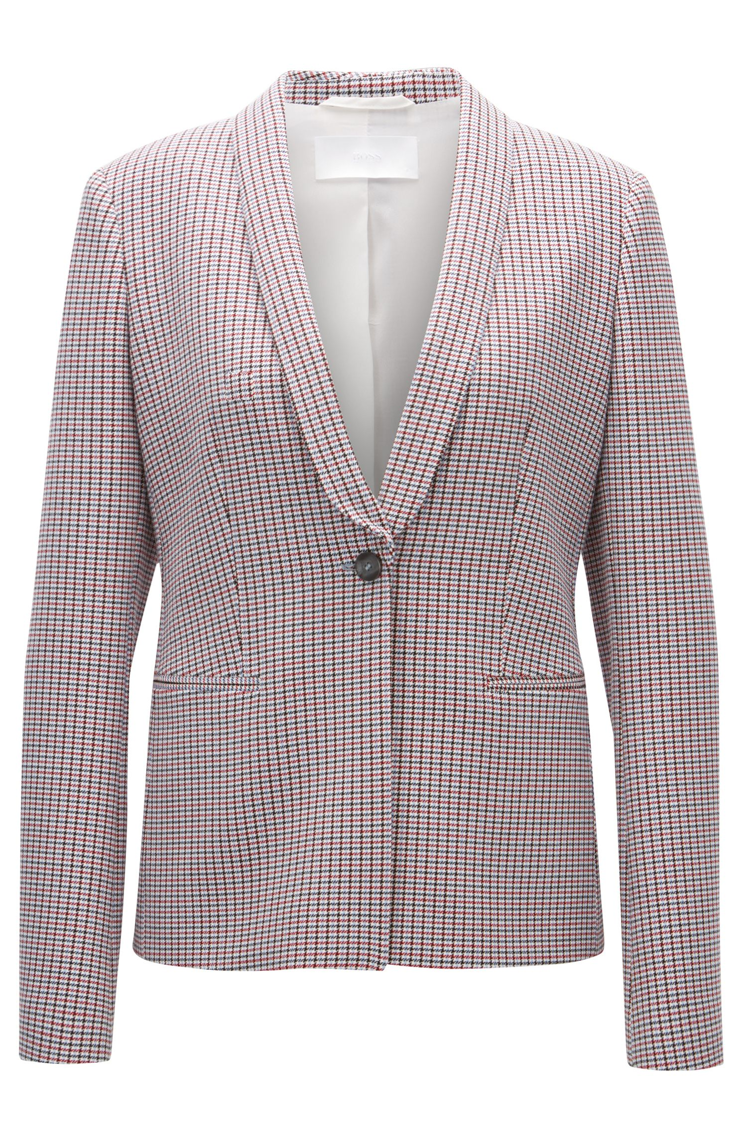 Regular-fit jacket in double-faced fabric