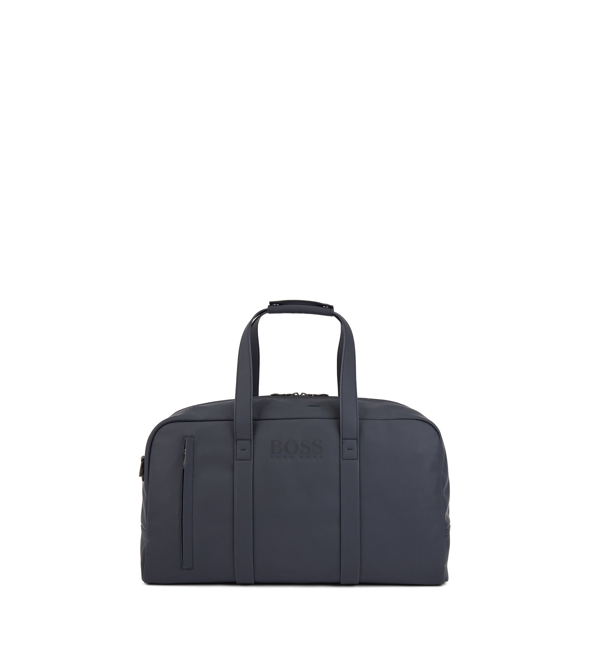 Holdall in rubberised technical fabric, Dark Blue