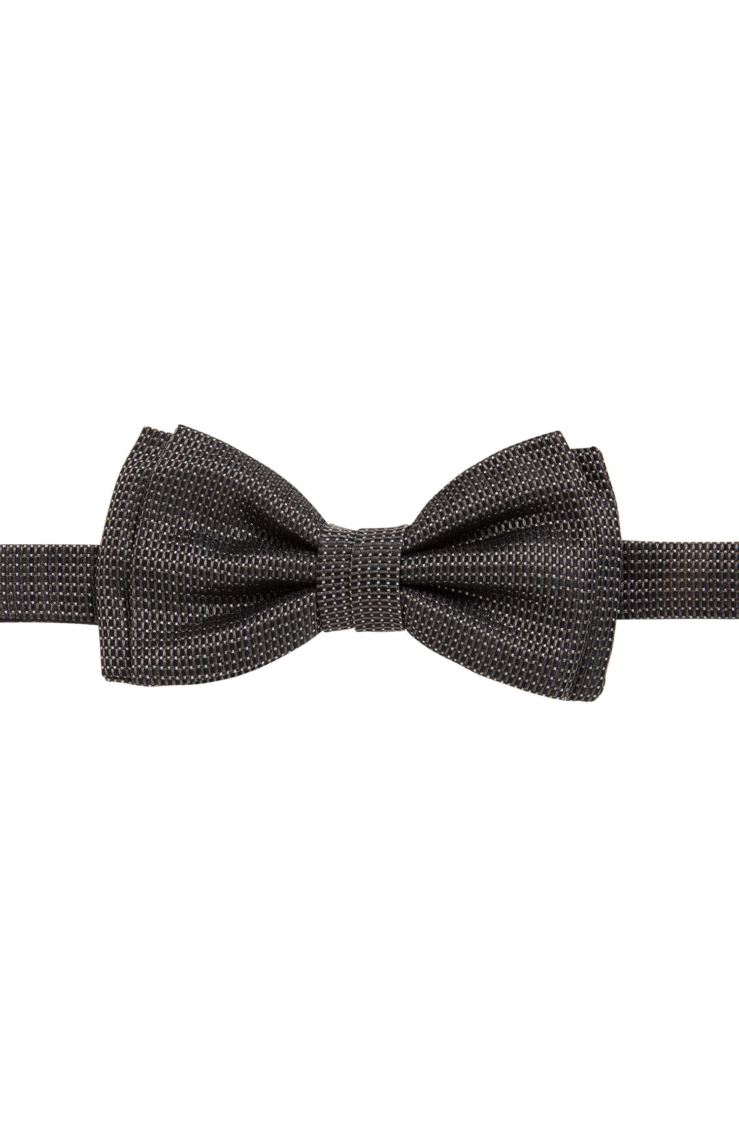 Jacquard bow tie in patterned silk