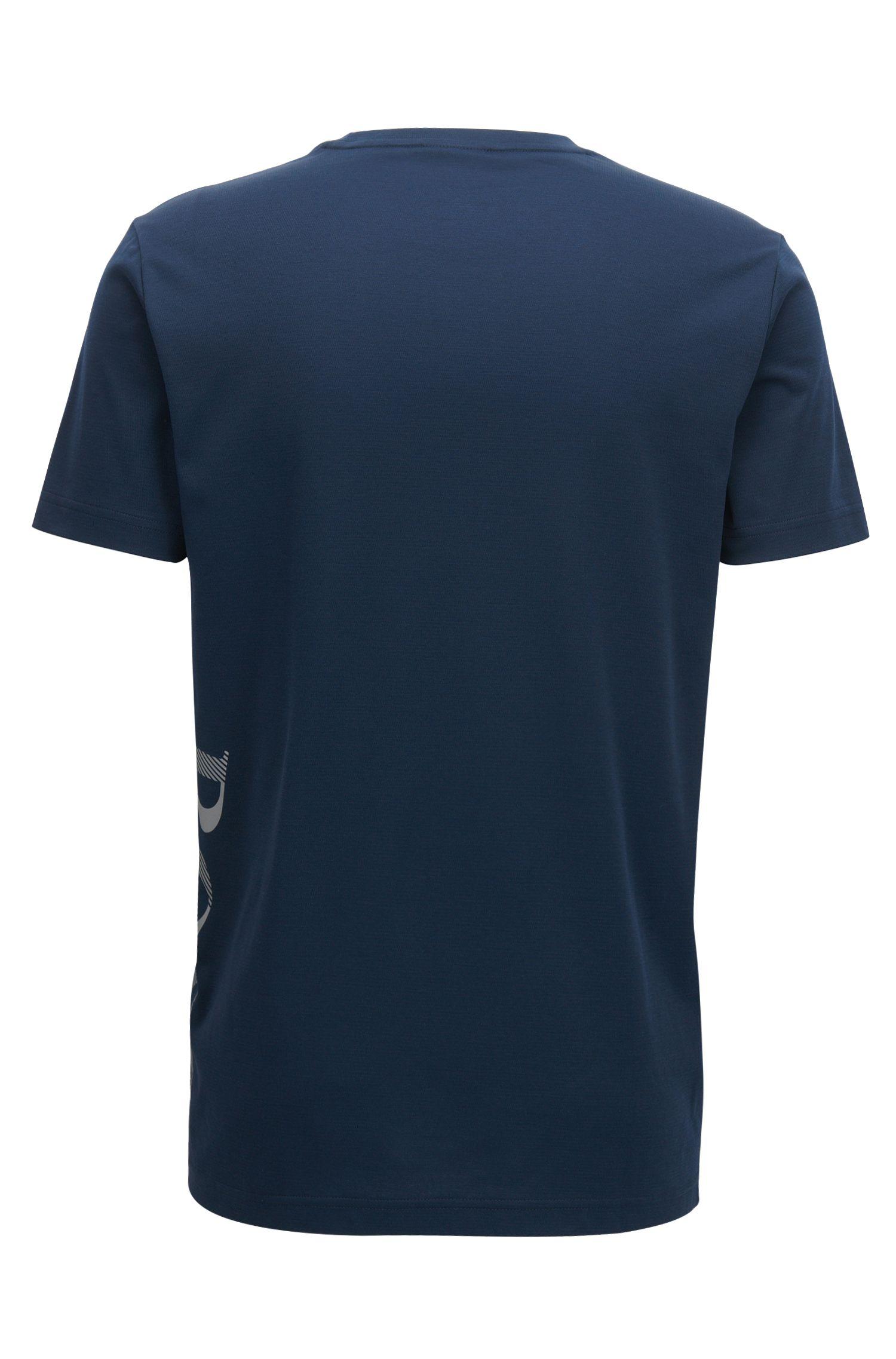 T-shirt slim fit in misto cotone con sistema di gestione dell'umidità