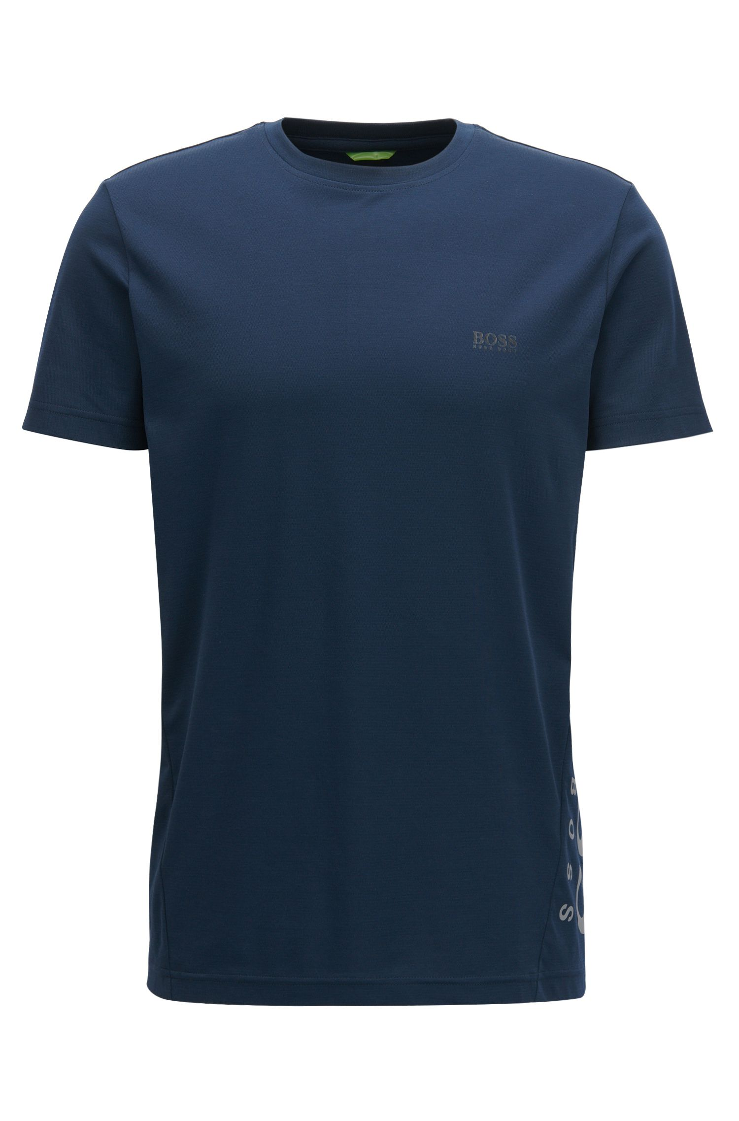 Slim-fit cotton-blend T-shirt with moisture management