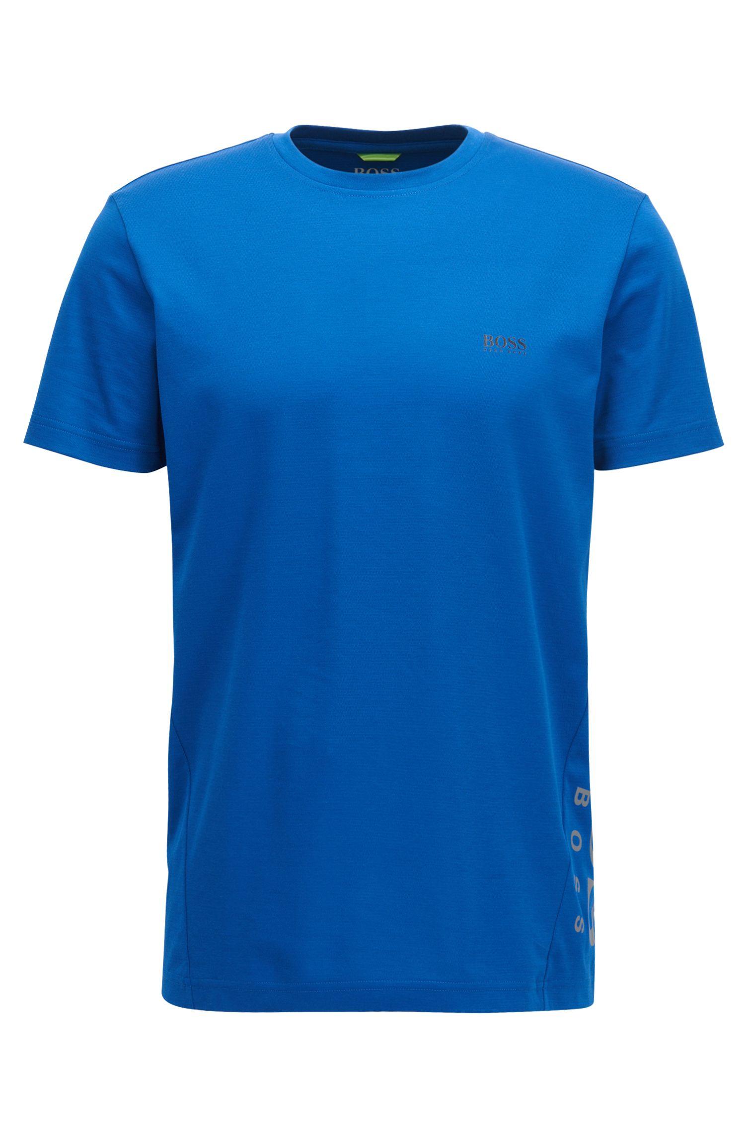 Slim-fit cotton-blend T-shirt with moisture management