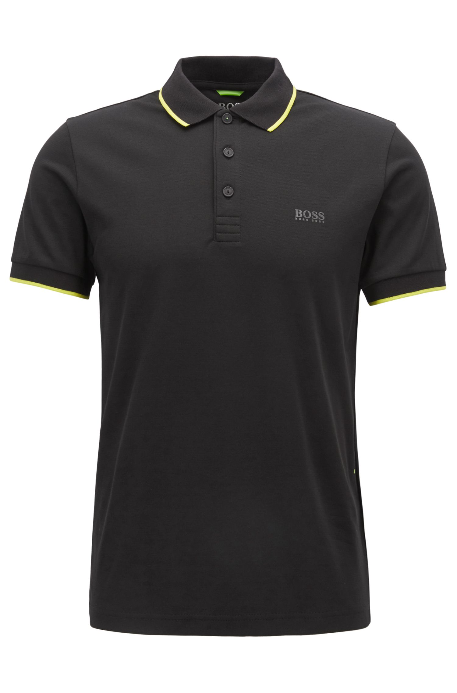 Slim-fit polo shirt in a cotton blend