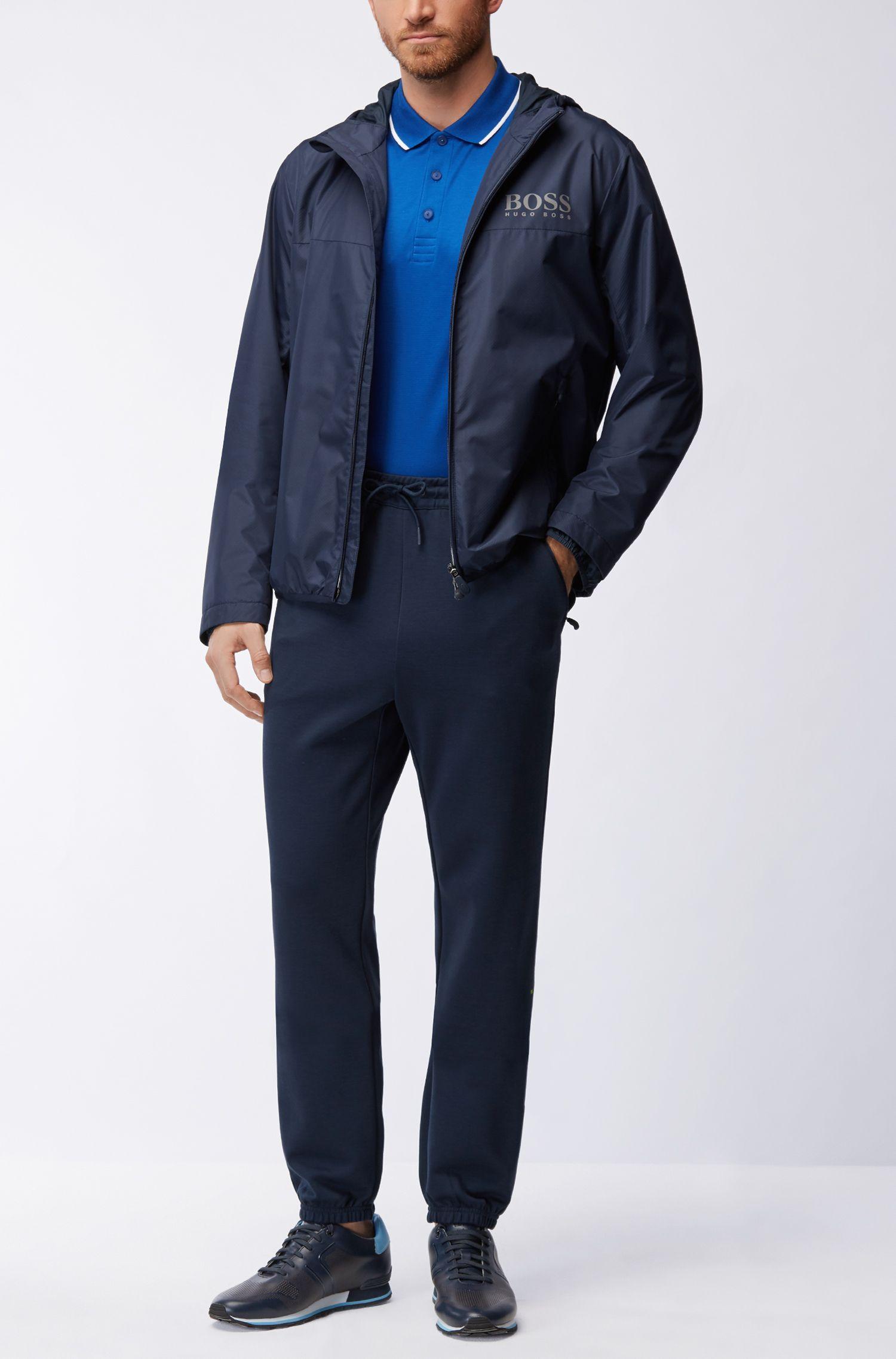 Slim-Fit Poloshirt aus Jacquard