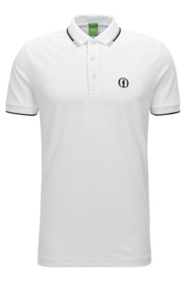 Poloshirt aus Baumwoll-Mix aus The Open Collection, Weiß