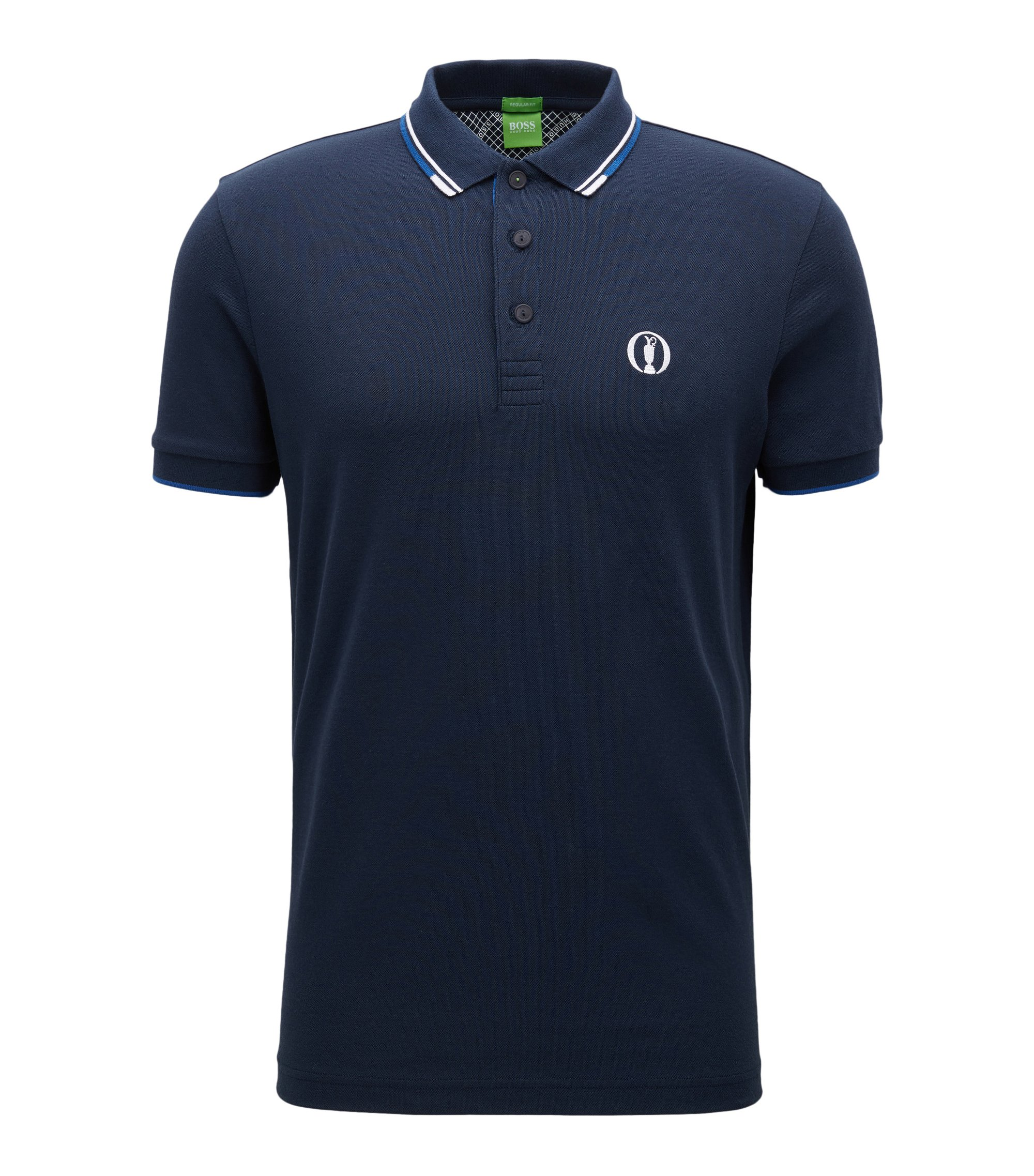 Poloshirt aus Baumwoll-Mix aus The Open Collection, Dunkelblau
