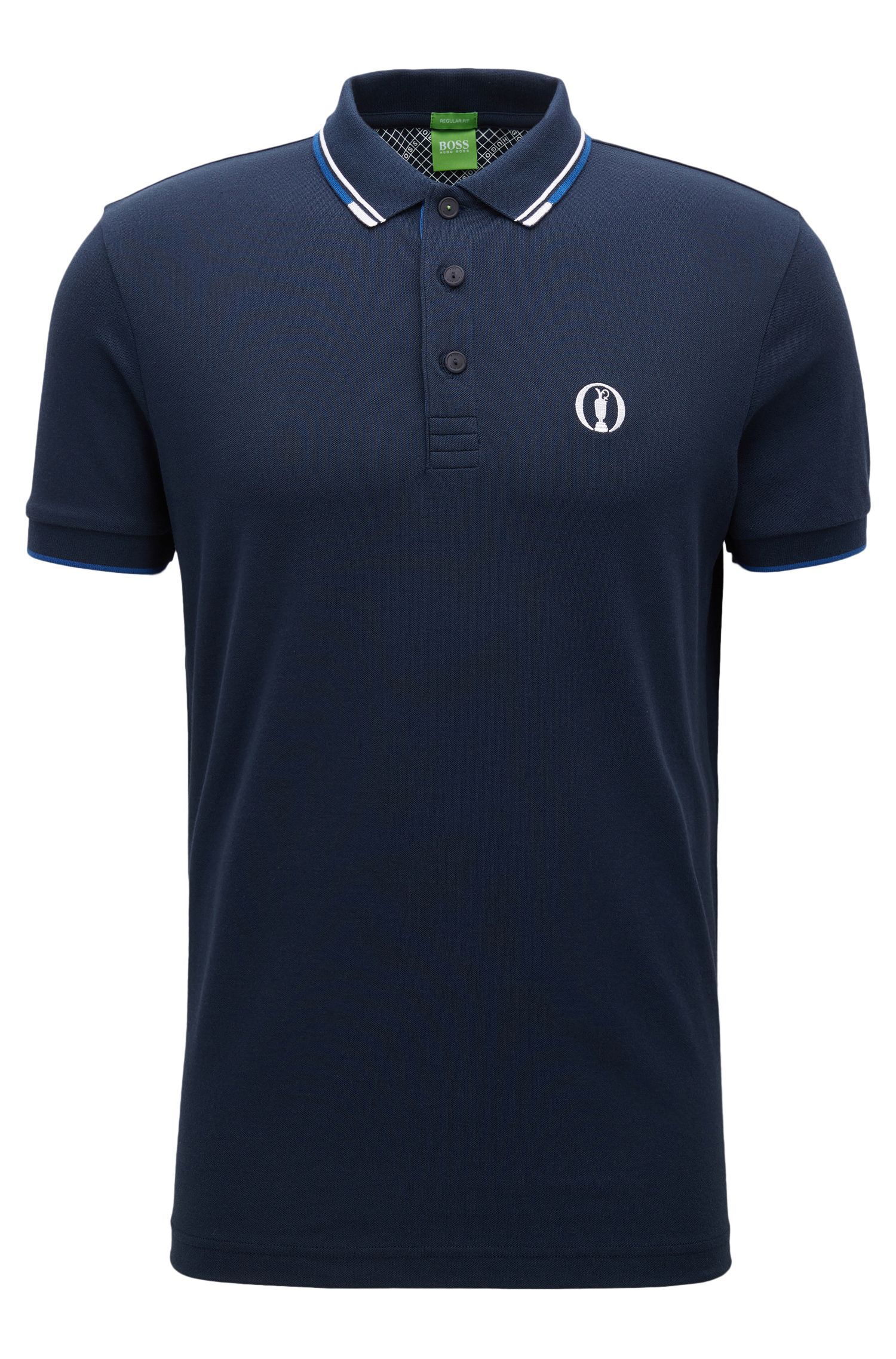 The Open Collection by BOSS polo shirt in cotton-blend piqué