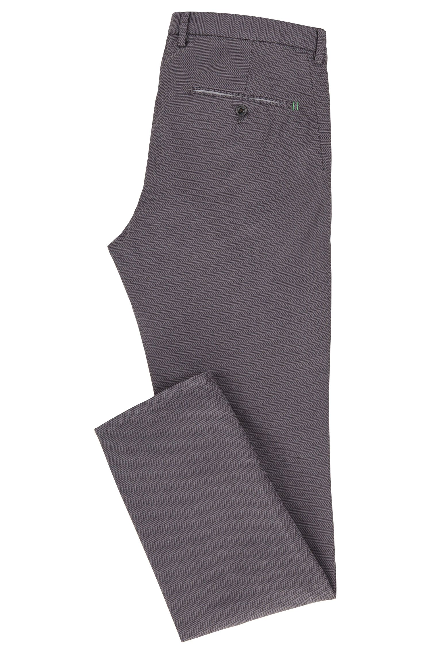 Slim-Fit Chino aus Stretch-Baumwolle mit zweifarbiger Webstruktur