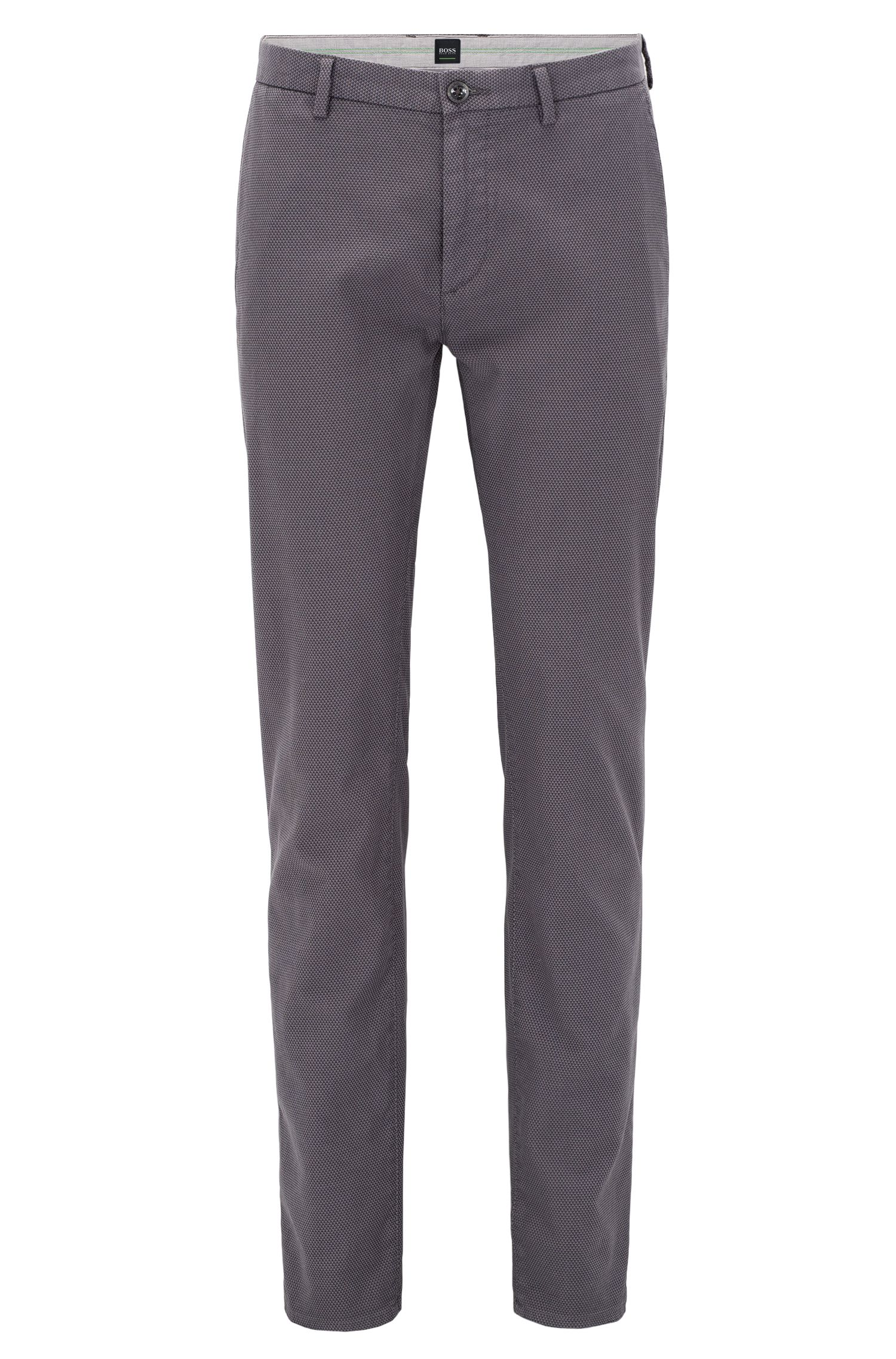 Slim-fit chinos in two-tone structured cotton