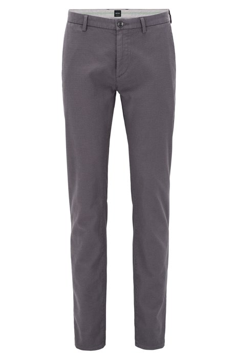 Clearance Store Buy Cheap High Quality Slim-fit chinos in two-tone structured cotton BOSS x3KJAS