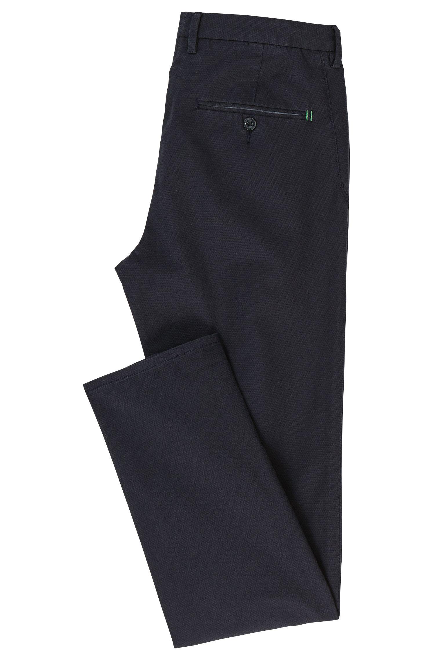 Chinos slim fit en algodón con textura en dos tonos