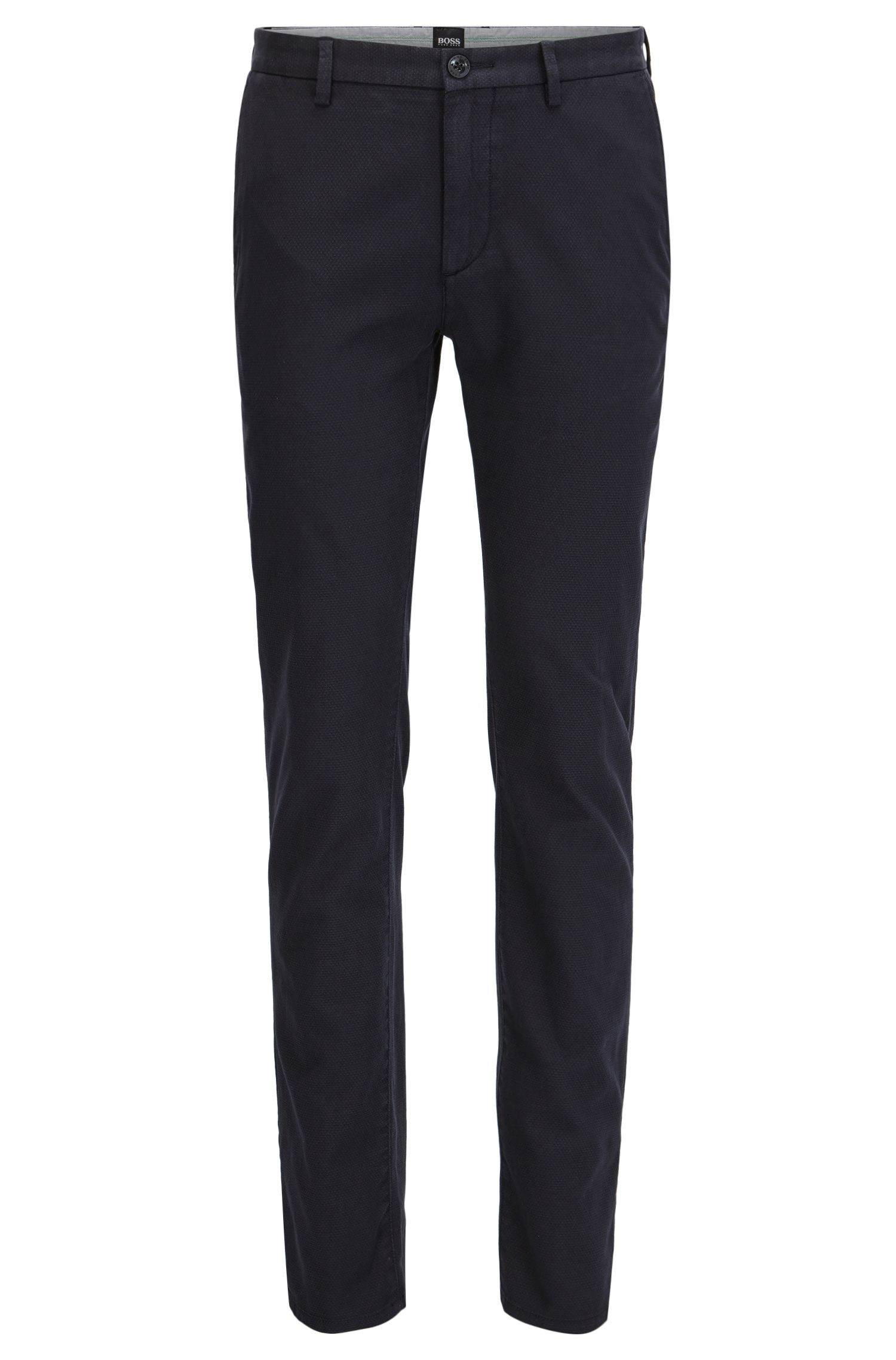 Pantalon chino Slim Fit en coton deux tons structuré