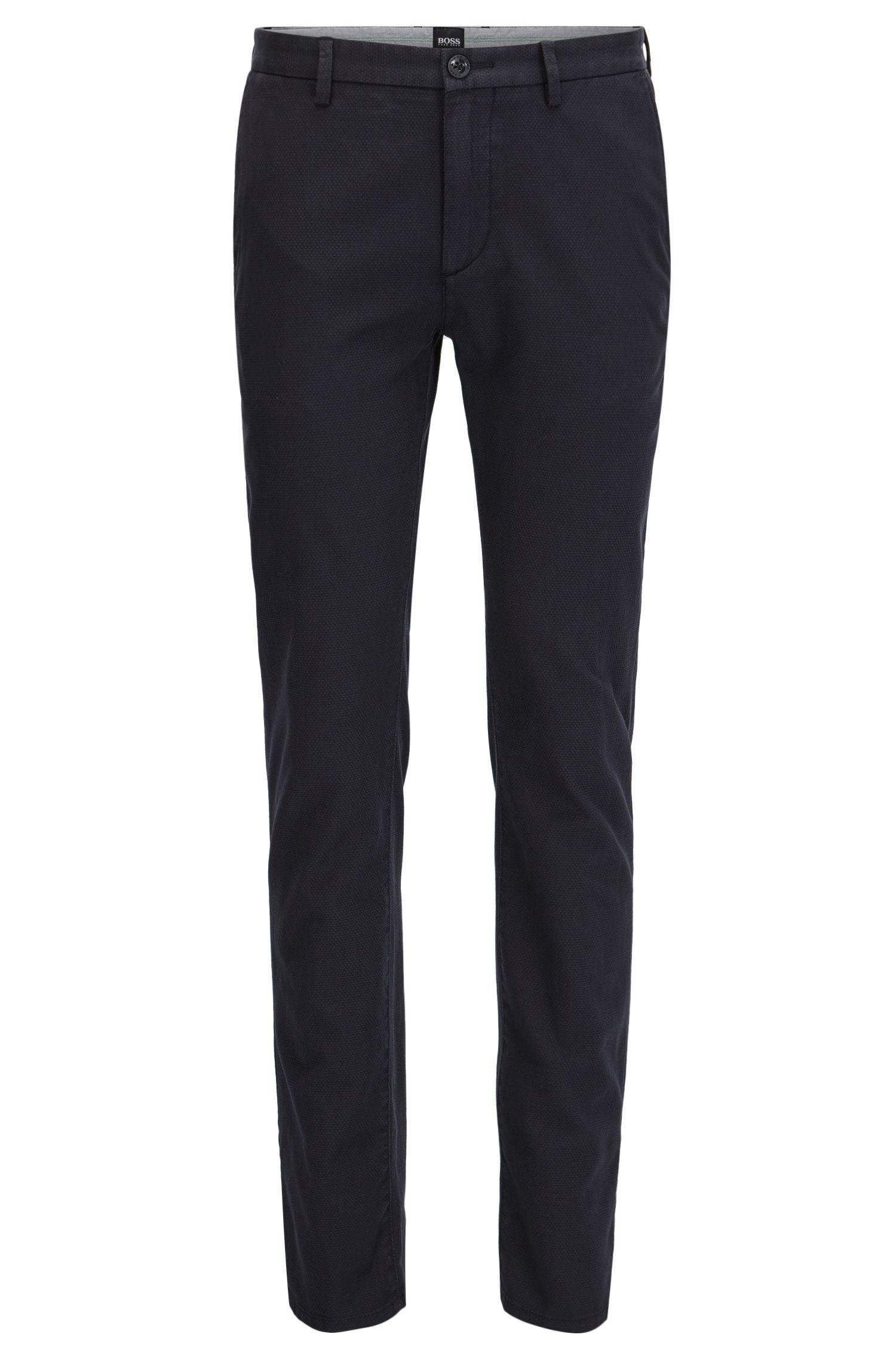 Pantalon chino Slim Fit en coton deux tons structuré