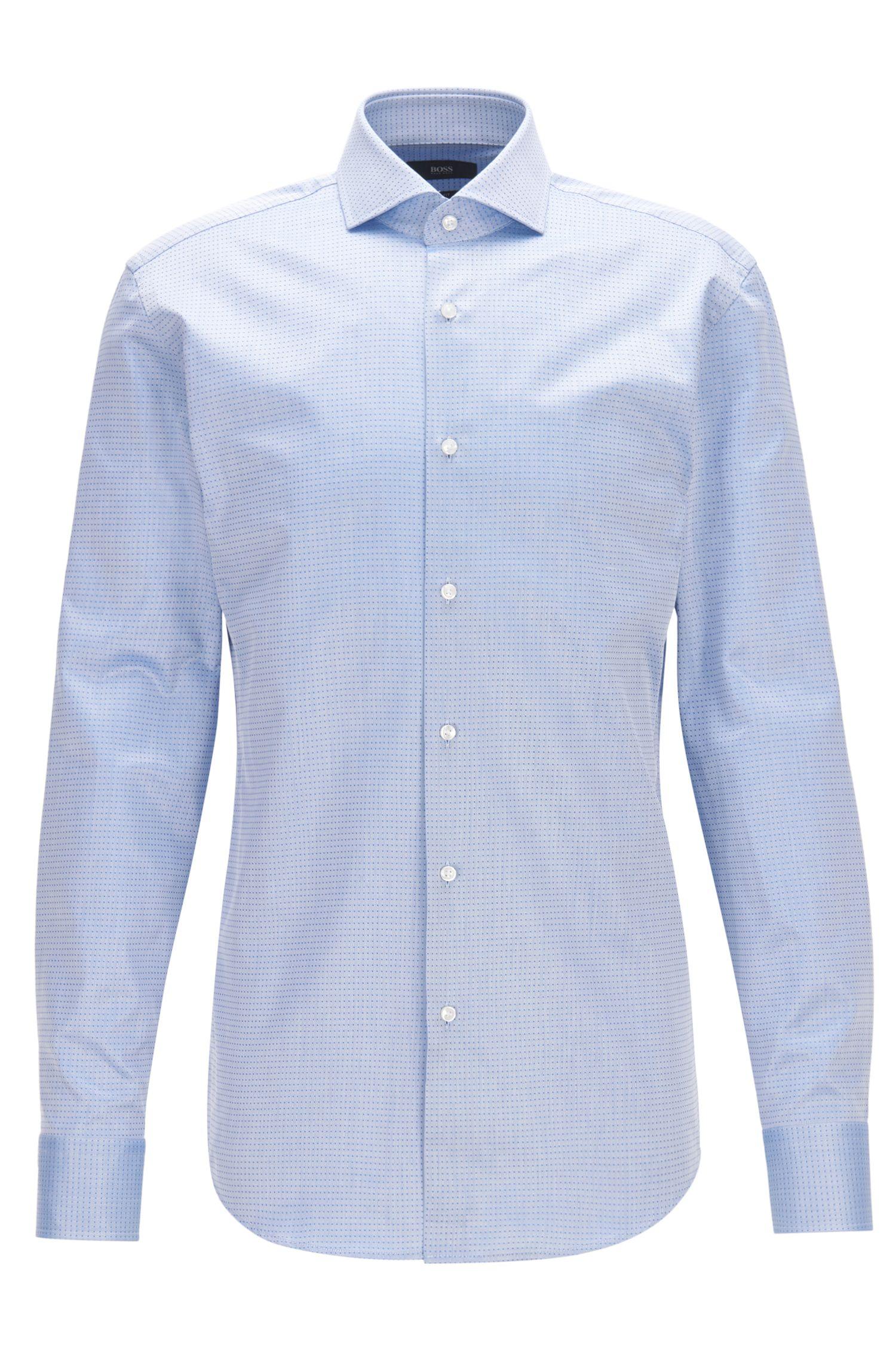 Slim-Fit Hemd aus strukturierter Baumwolle