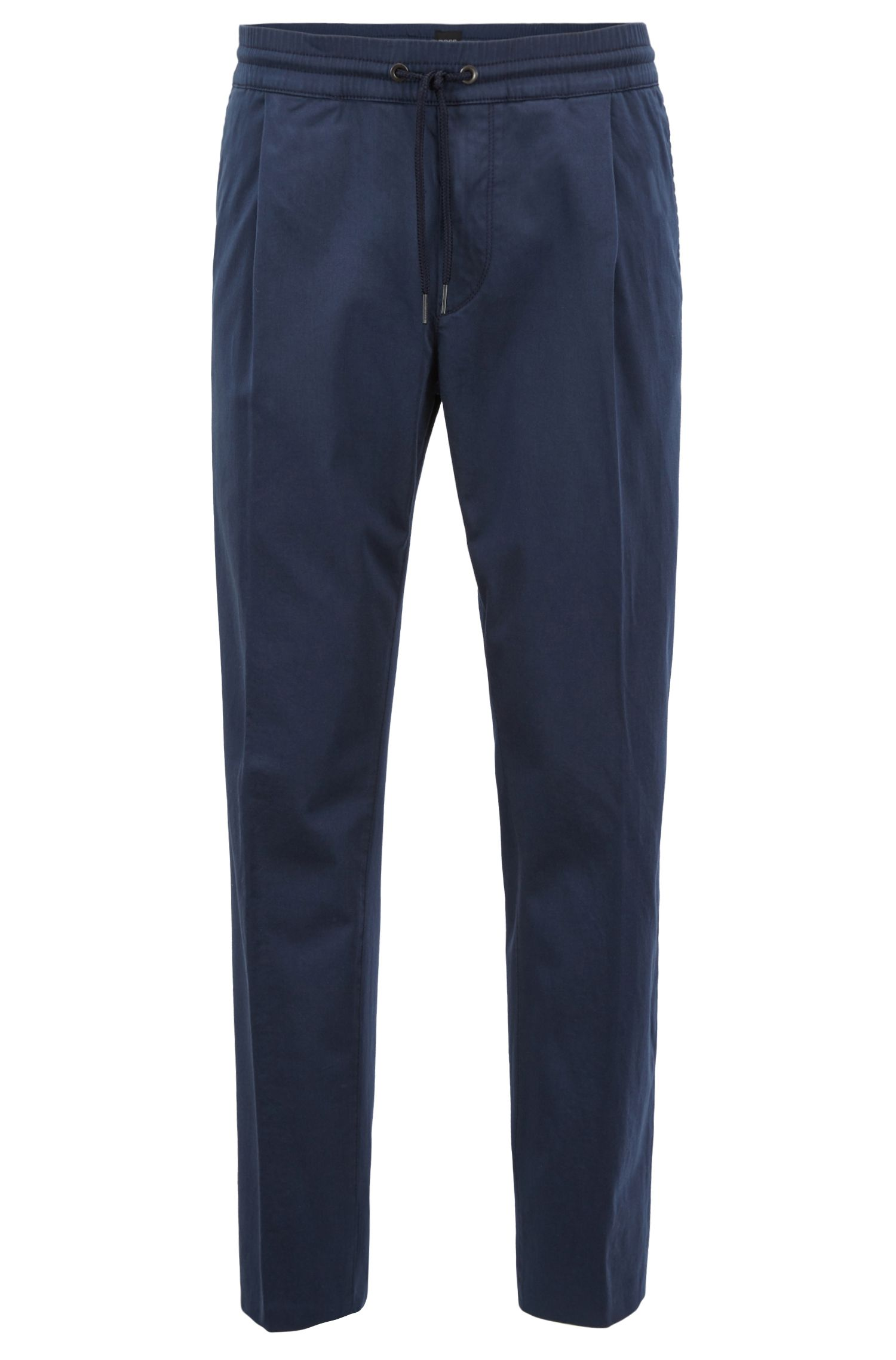 Pantalon Tapered Fit en coton stretch mélangé