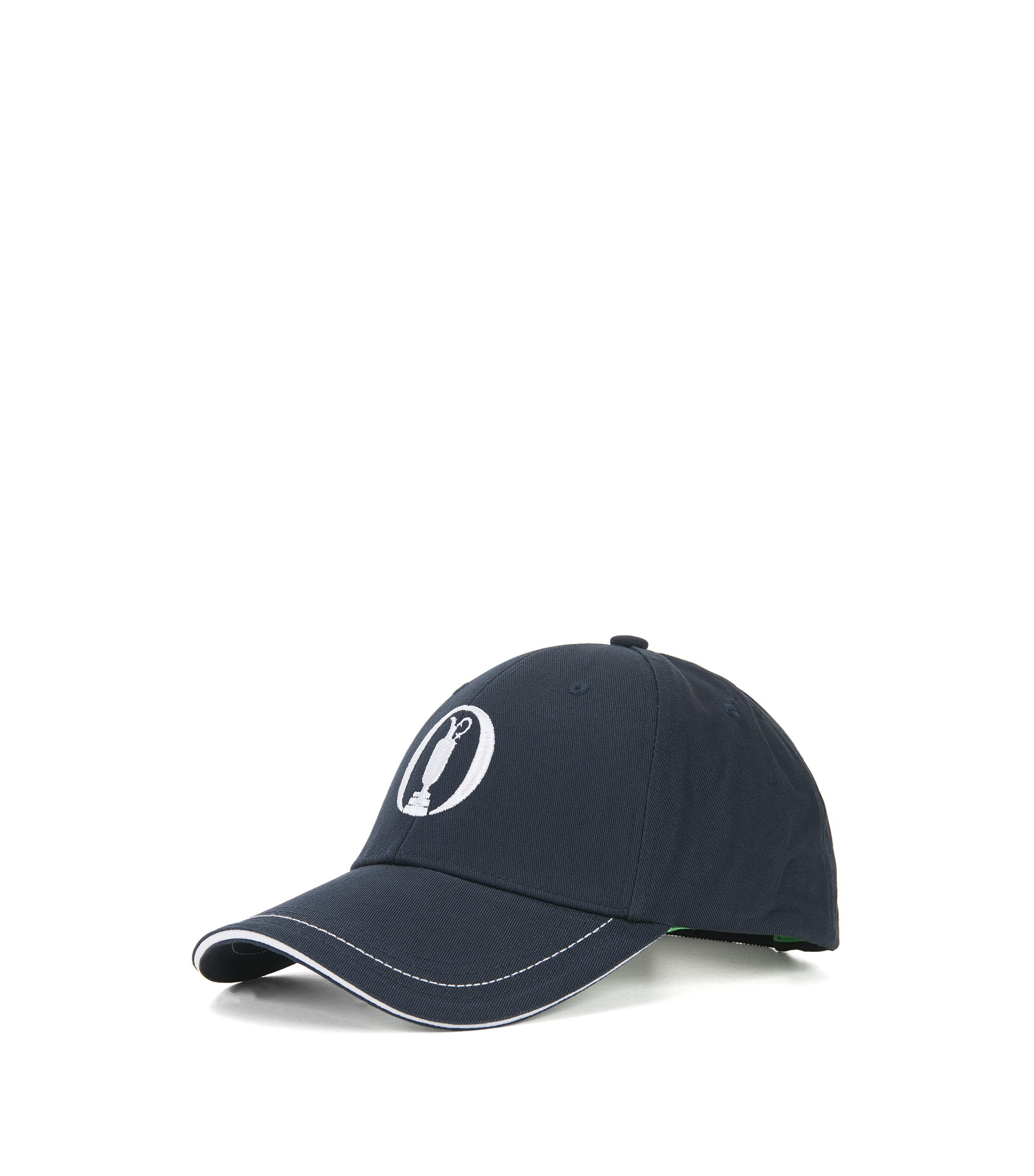 Casquette de base-ball BOSS en twill de coton de la collection The Open, Bleu foncé