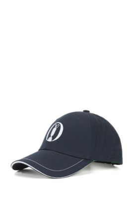 The Open Collection by BOSS cotton-twill baseball cap, Dark Blue