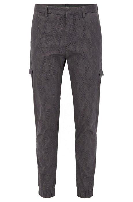 HUGO BOSS Pantalon cargo Slim Fit en coton stretch italien imprimé L3JLpgnzkF