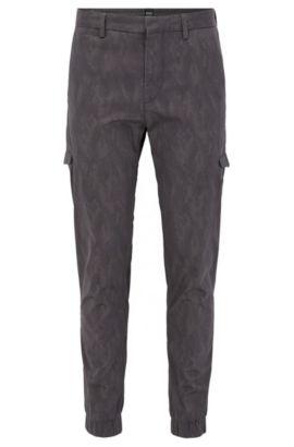 Bedruckte Slim-Fit Cargohose aus Stretch-Baumwolle, Gemustert