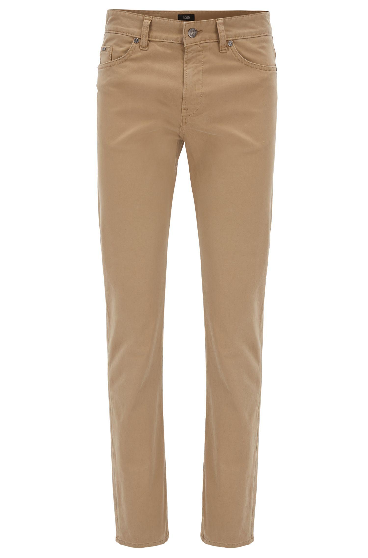 Slim-Fit Jeans aus gebürstetem Stretch-Denim mit Satin-Finish