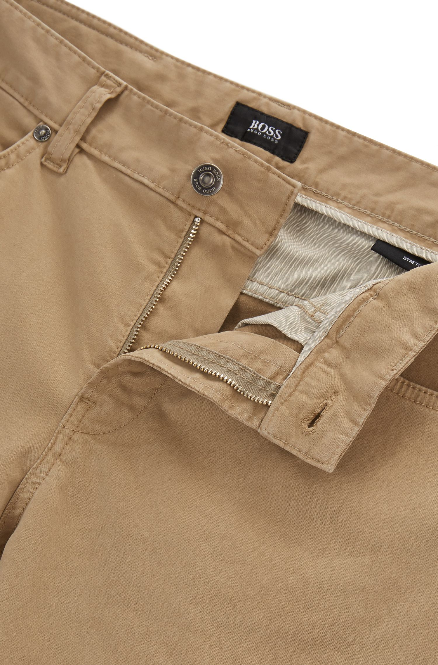 Slim-fit jeans in brushed-satin stretch denim