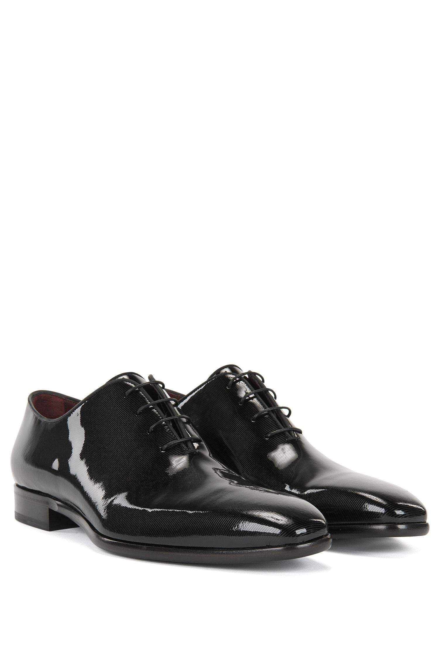 Oxford shoes in printed patent leather BOSS