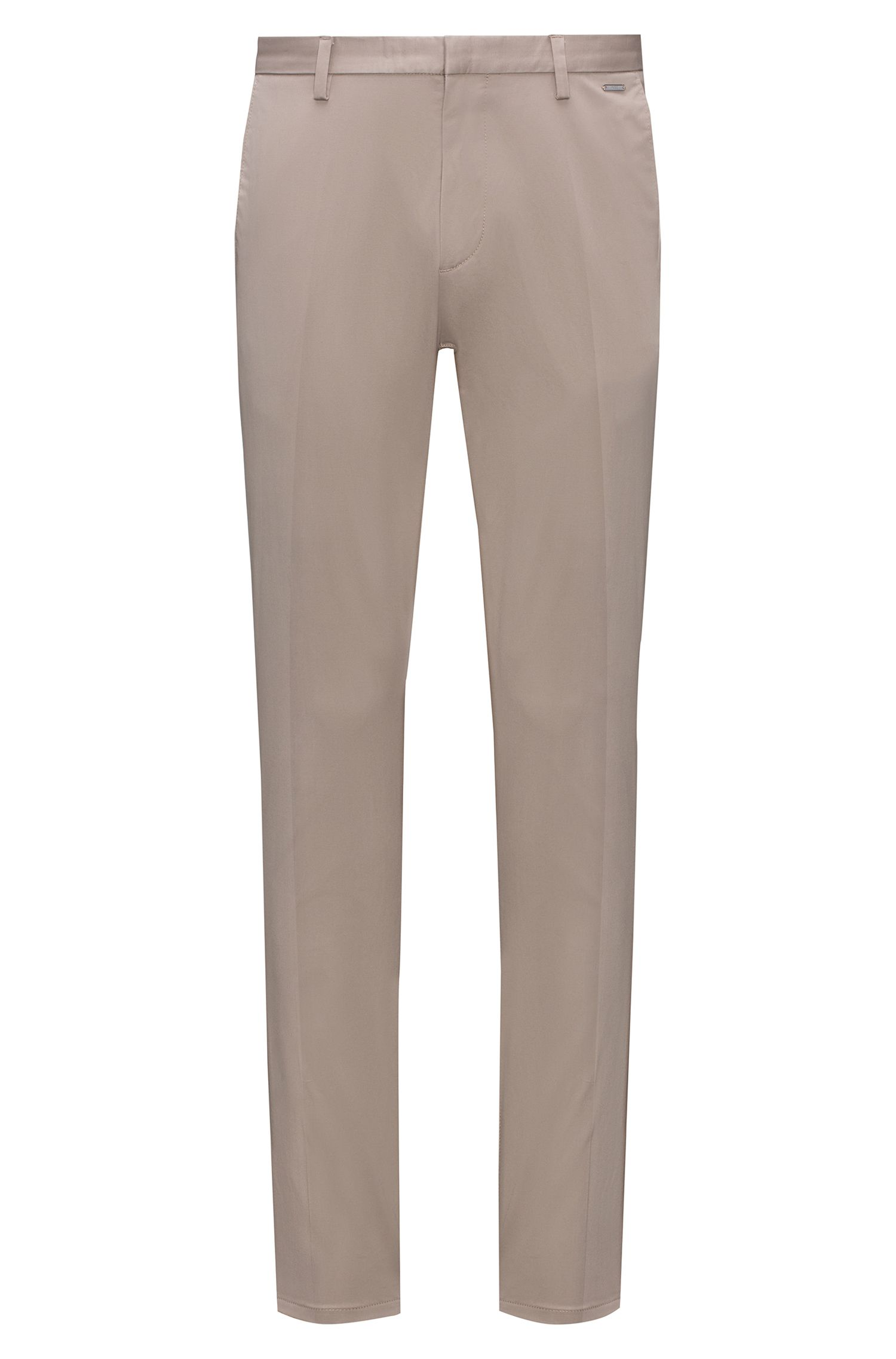 Pantalon Slim Fit léger en gabardine de coton stretch