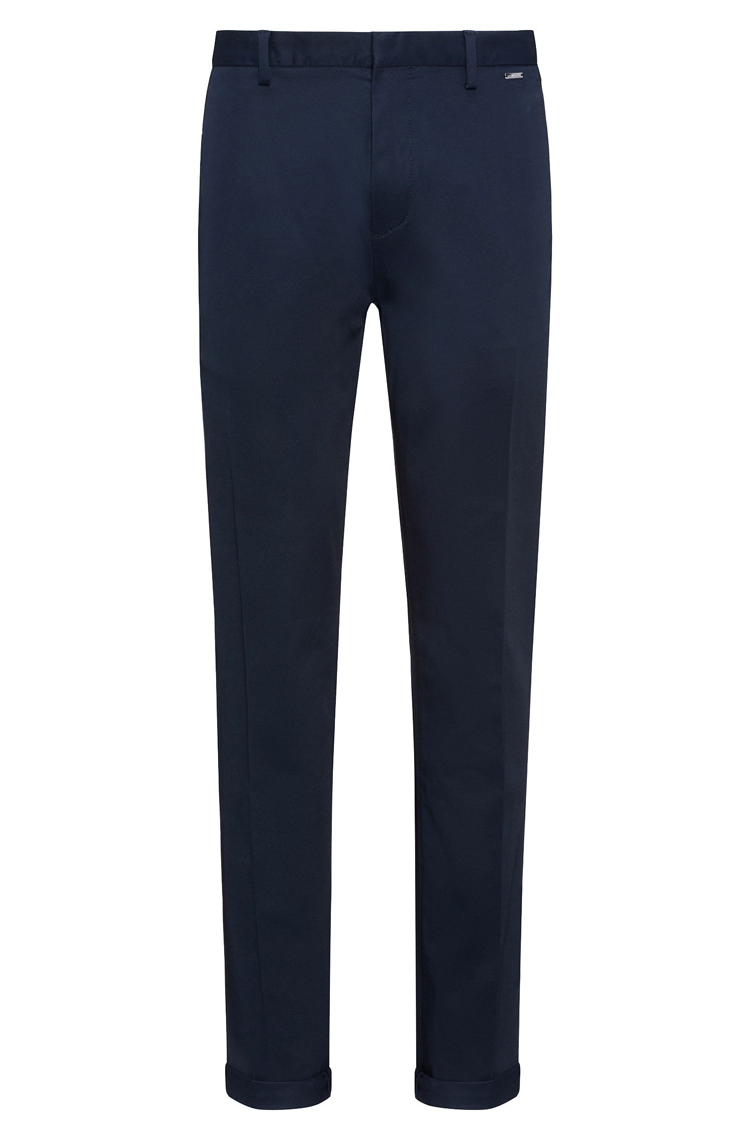 Lightweight slim-fit trousers in stretch-cotton gabardine