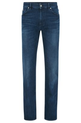 Jean Regular Fit en denim stretch confortable, Bleu