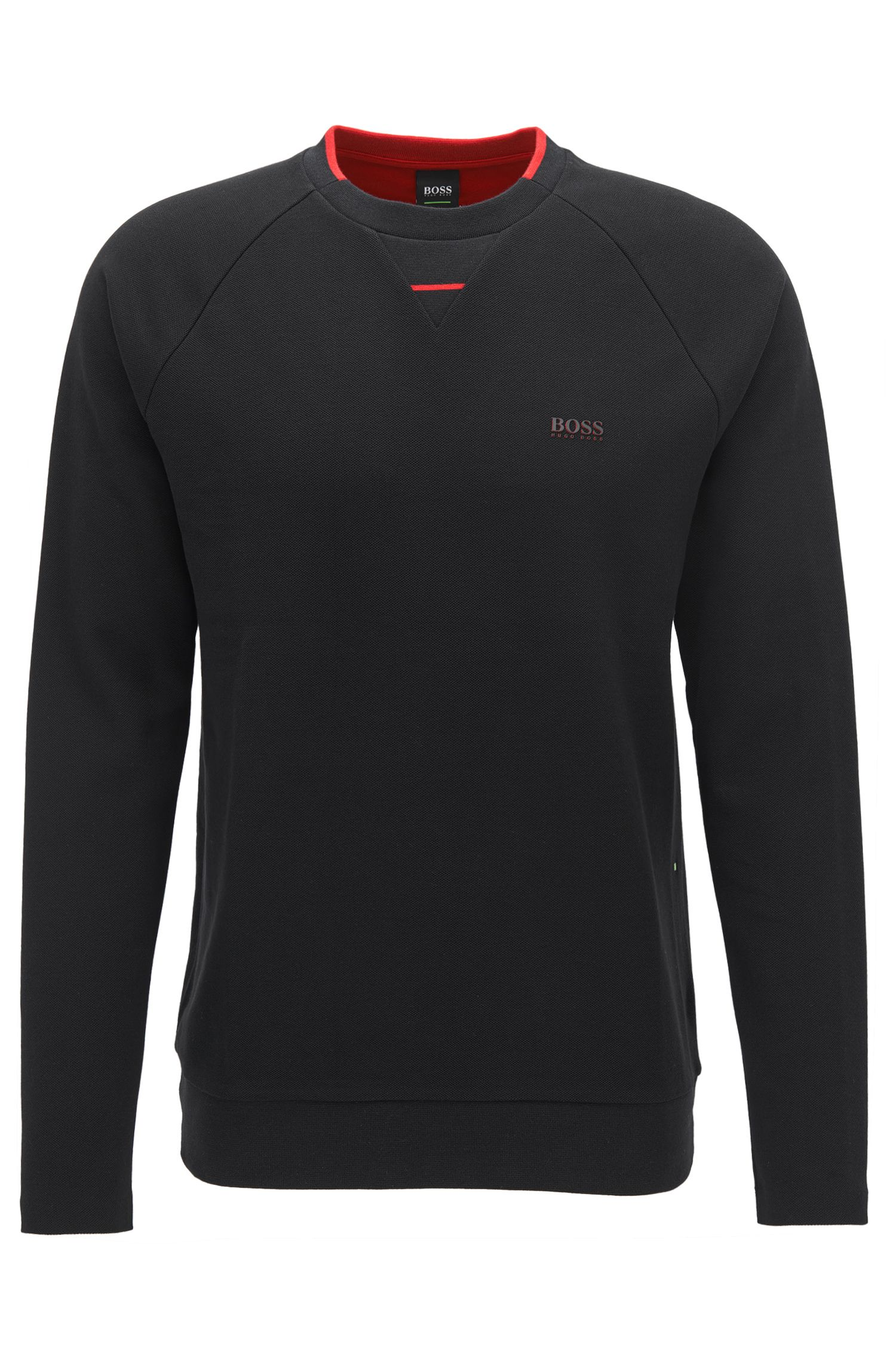 Cotton piqué sweatshirt with seamless sides BOSS