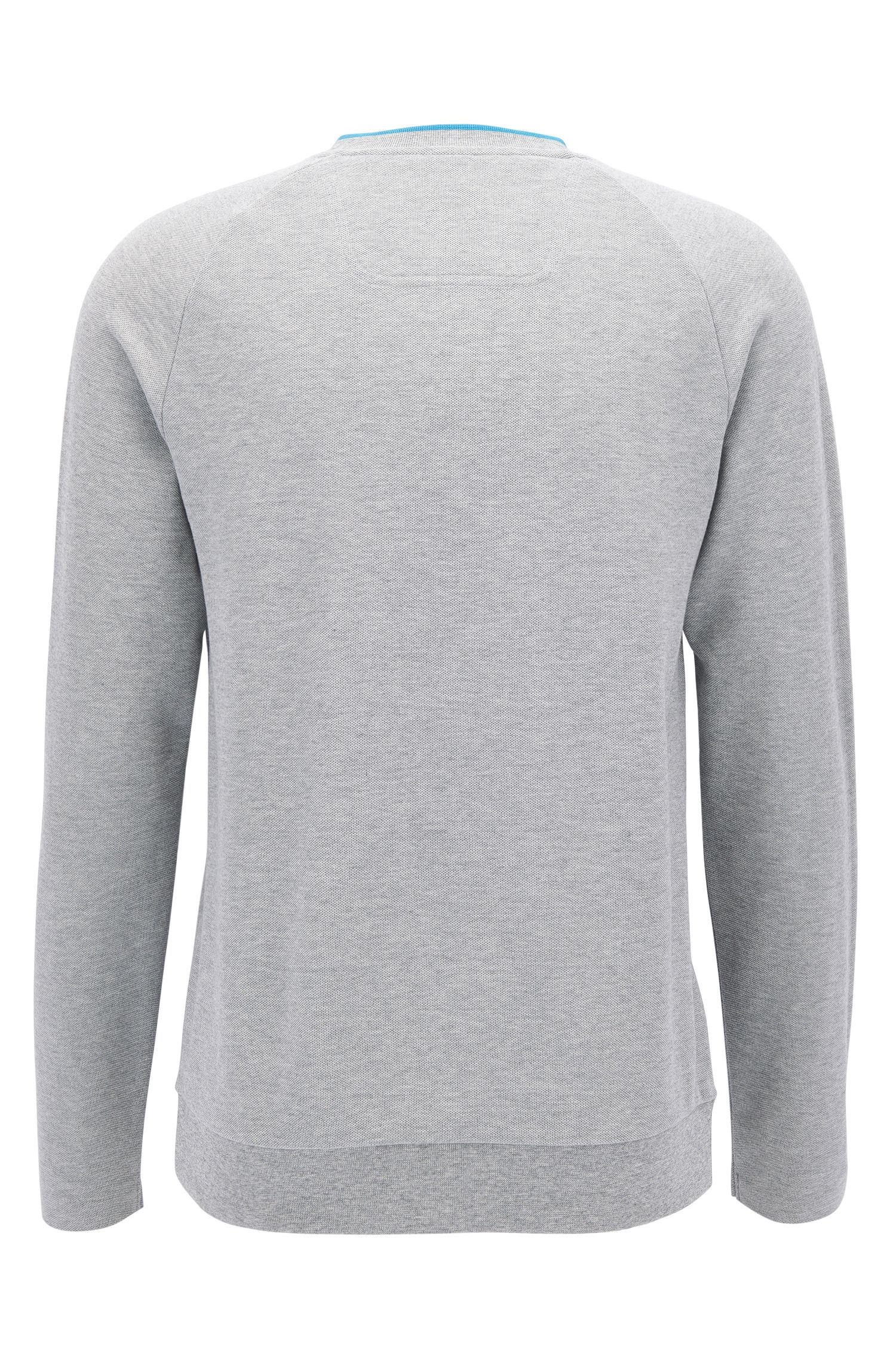 Cotton piqué sweatshirt with seamless sides