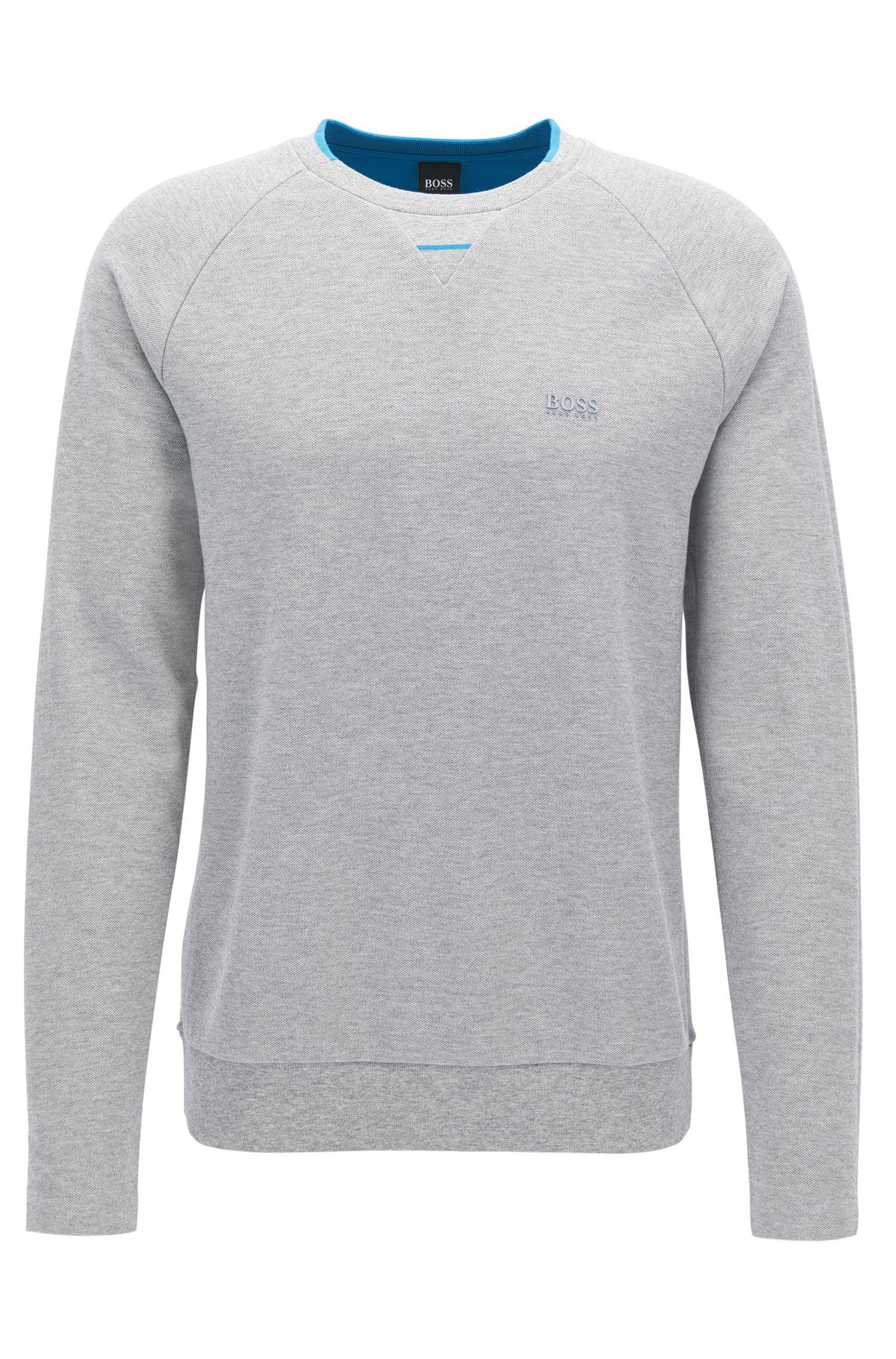 Sweatshirt aus Baumwoll-Piqué ohne Seitennähten