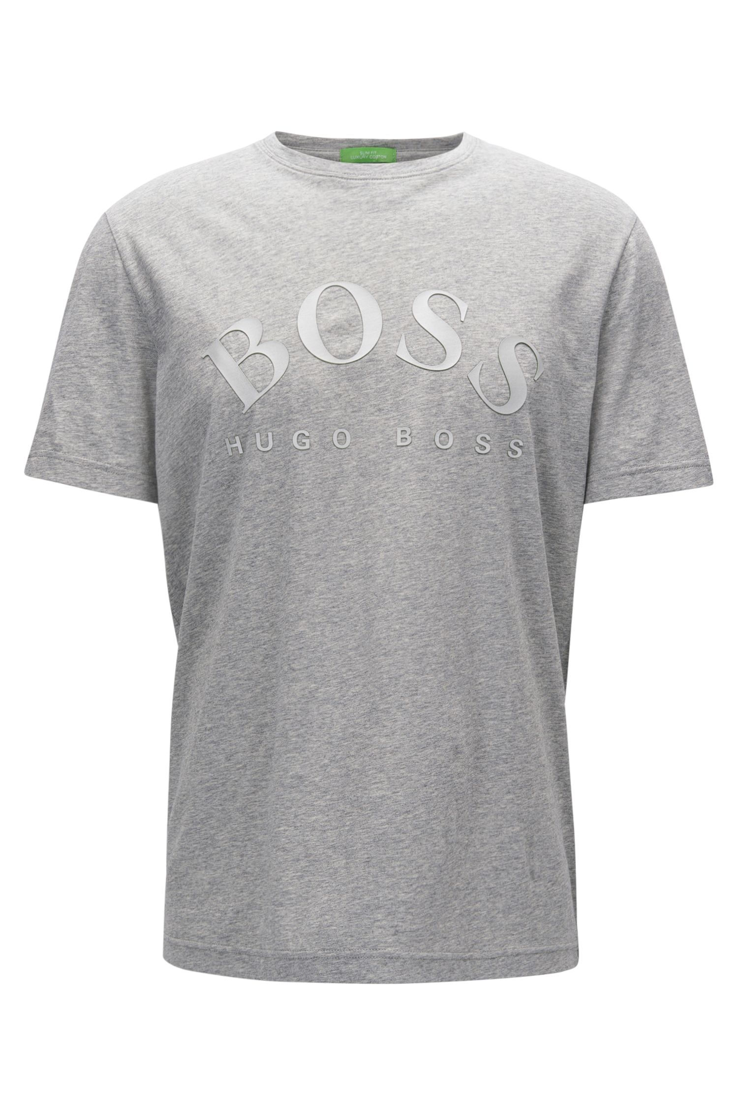 T-shirt slim fit in morbido cotone con logo